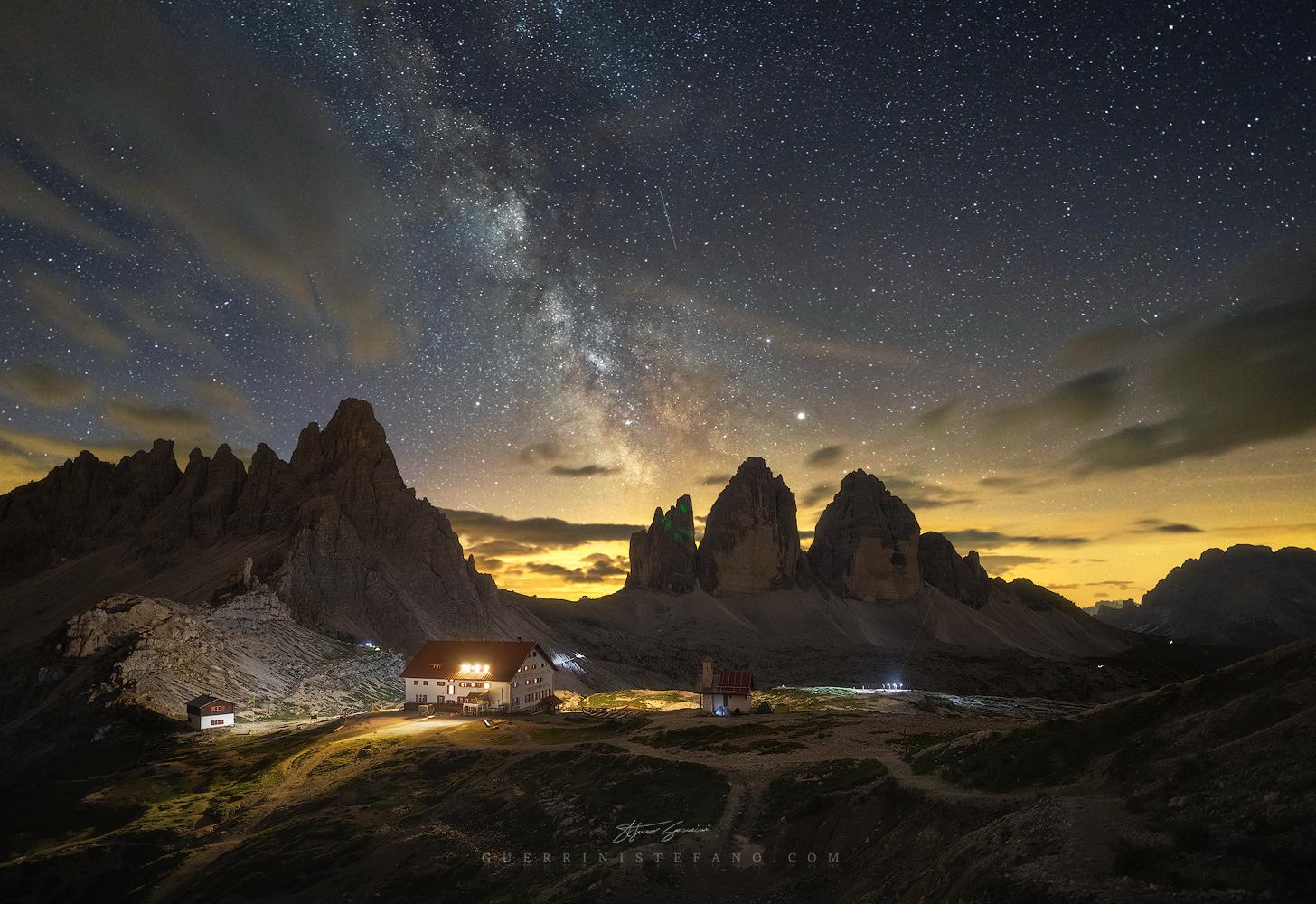 Three Lavaredo Peaks - Milky Way...