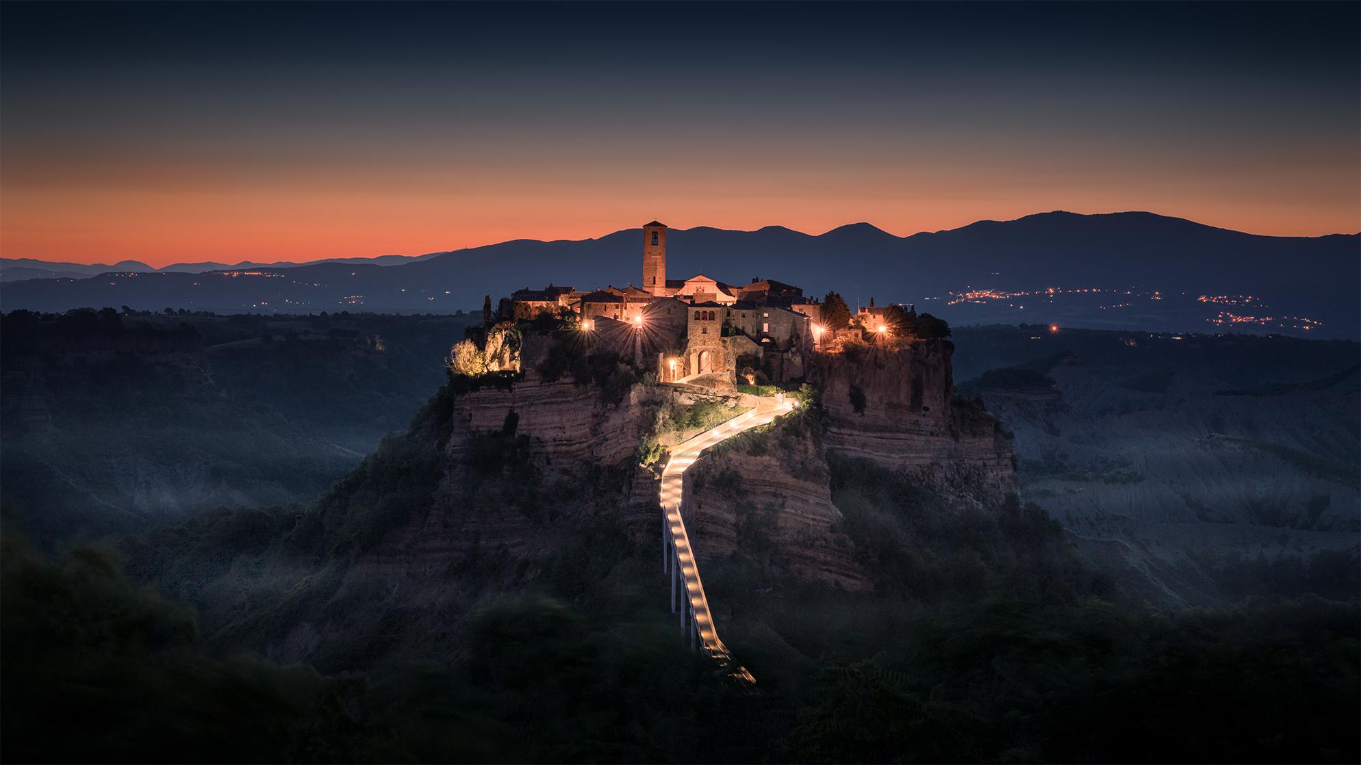 Sunrise in Civita di Bagnoregio...