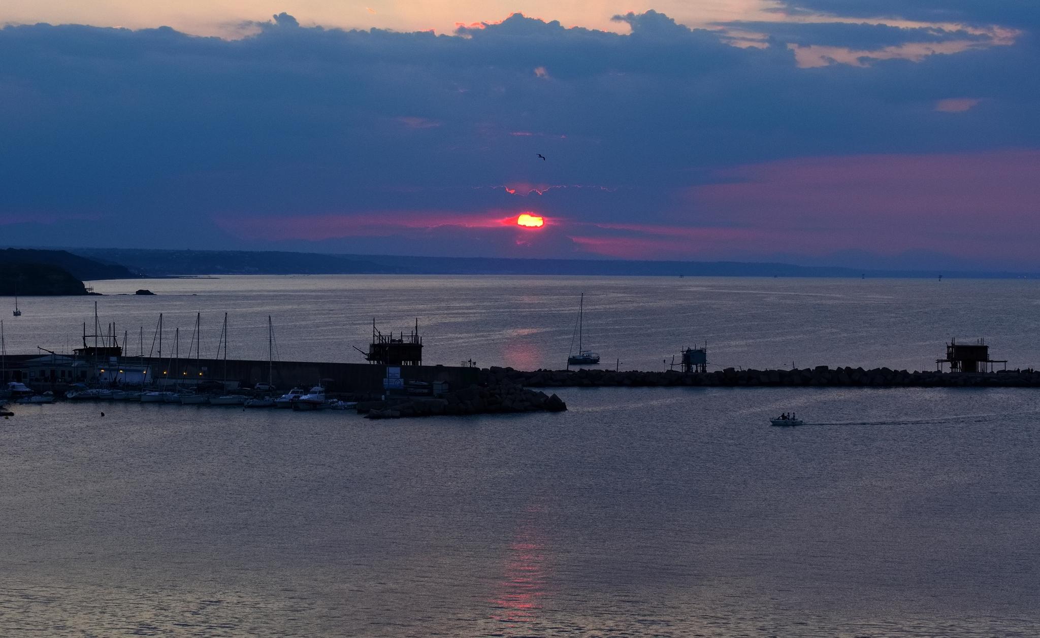 Rientro al tramonto...