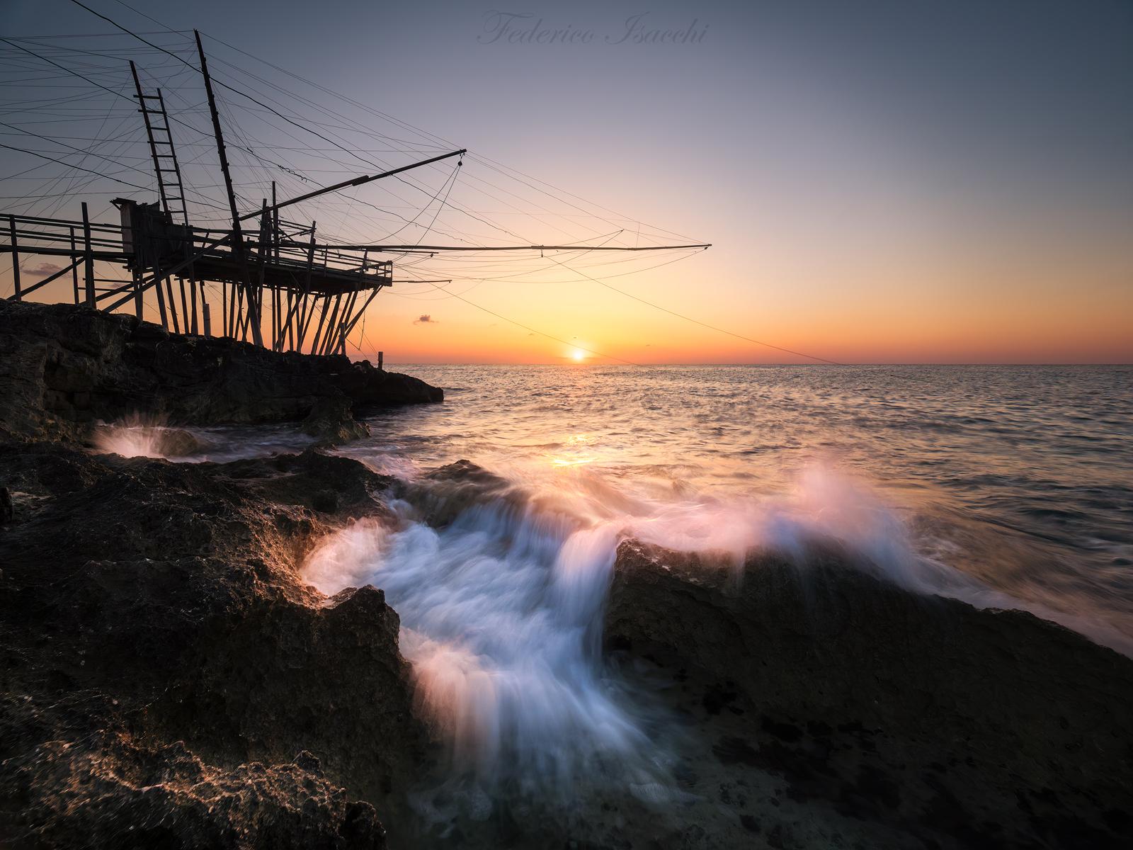 Trabucco at dawn...