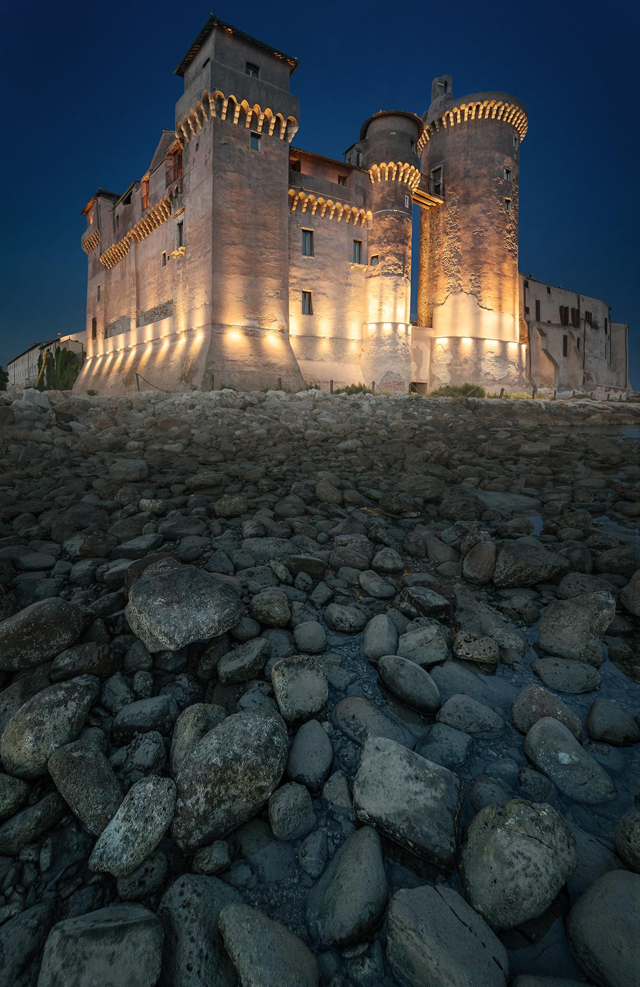 Blue time at Santa Severa Castle...