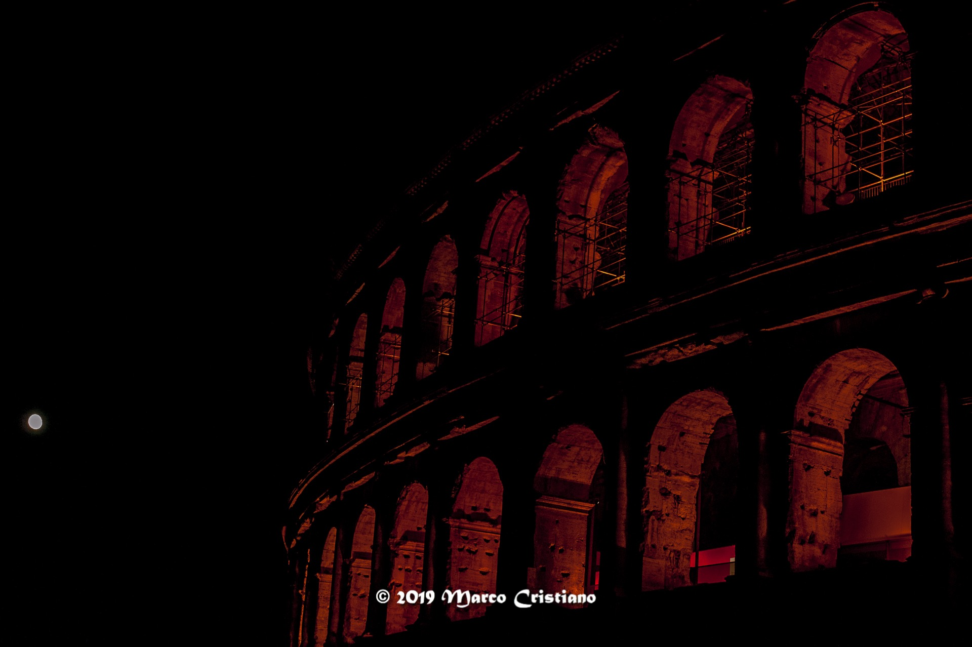 Colosseum on fire....