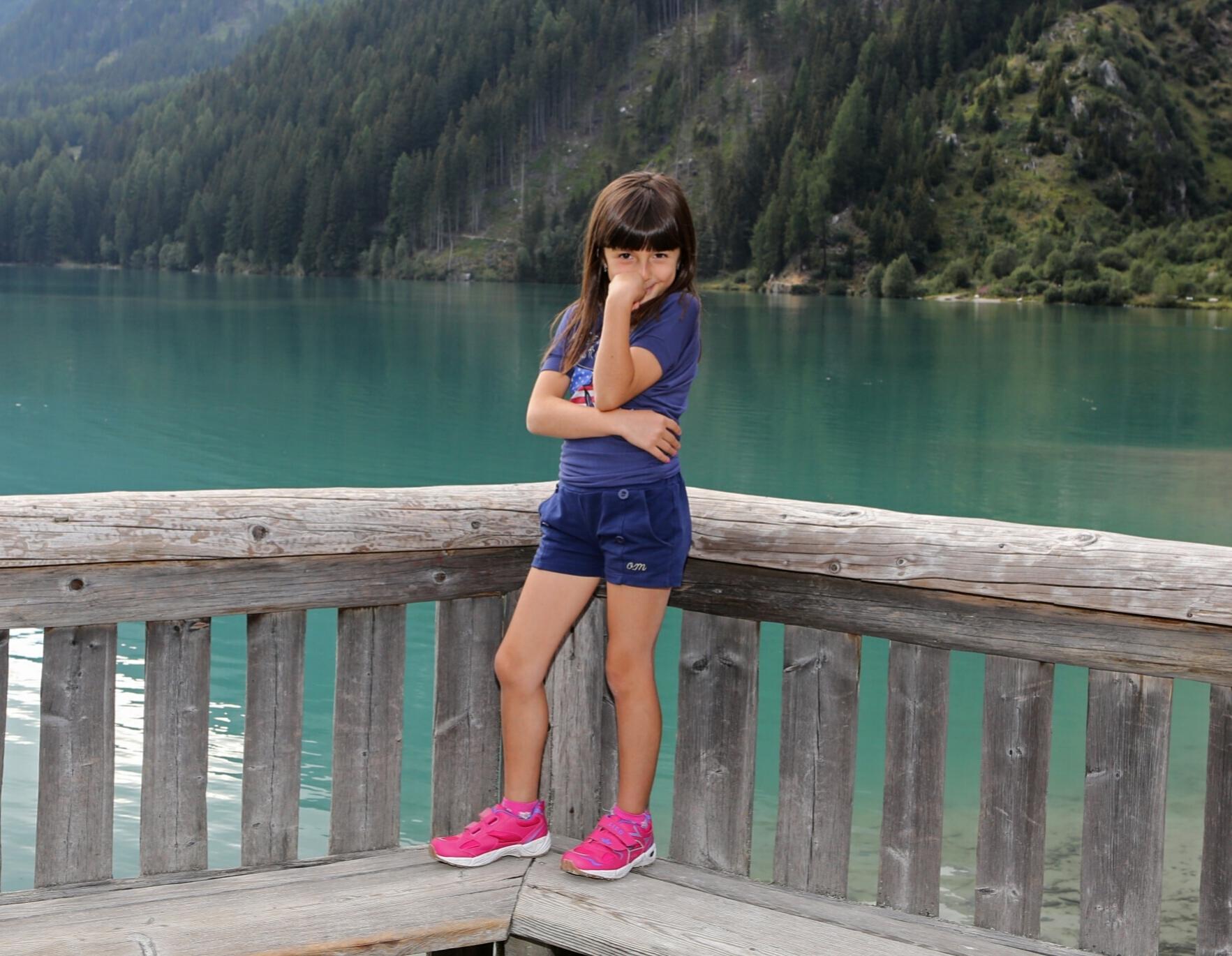 Lake Anterselva and my pupetta....