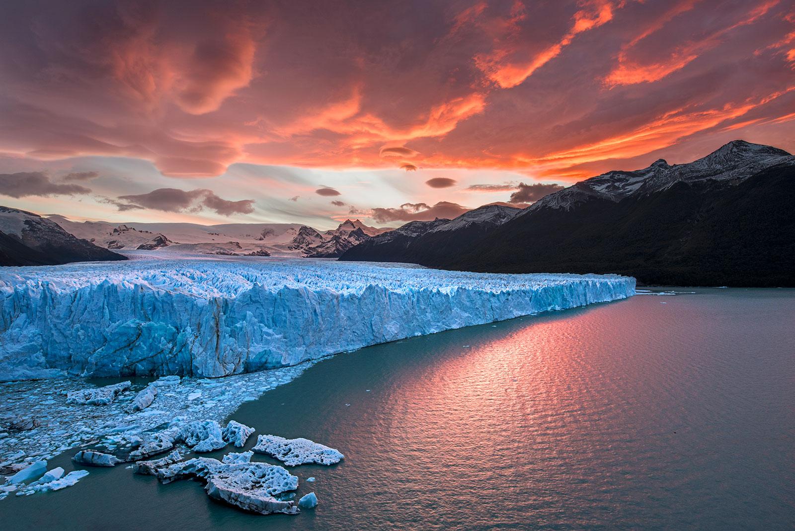 Perito Moreno at Sunset...