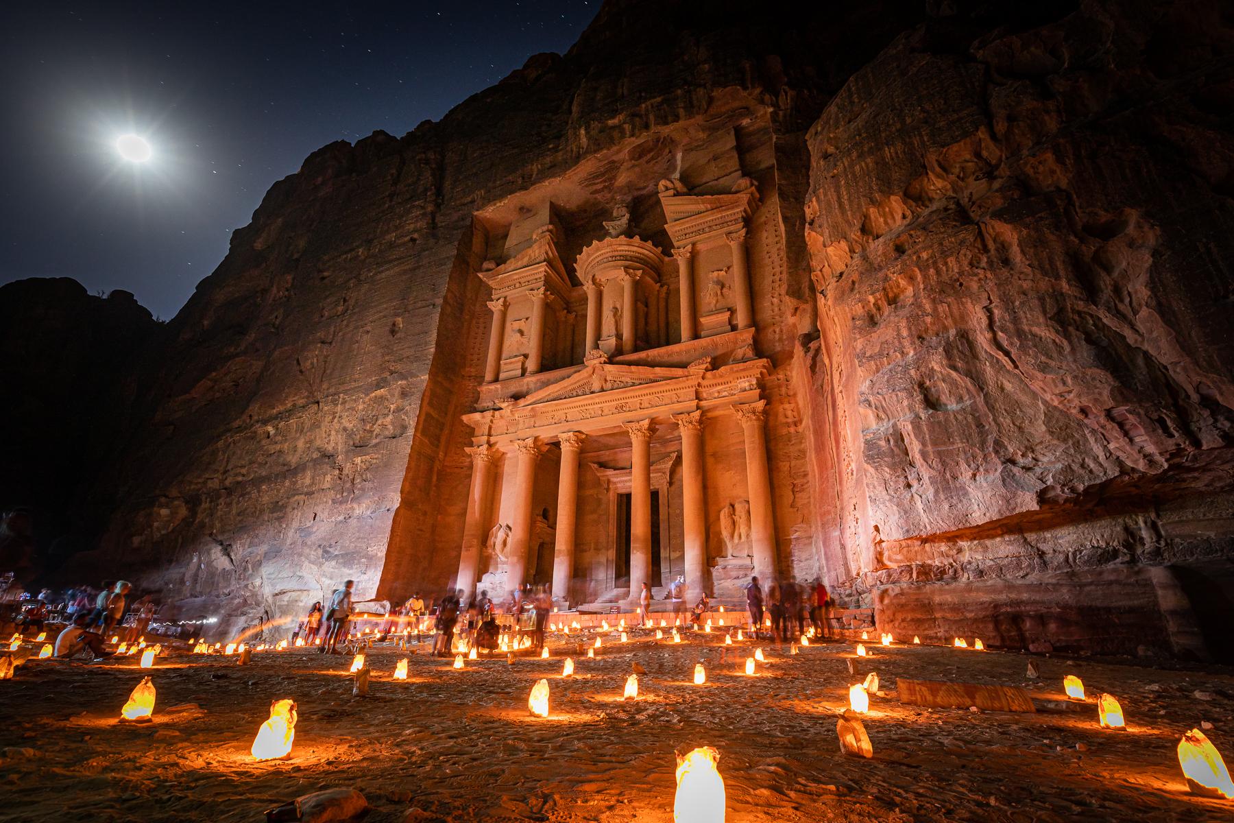 Petra by night...