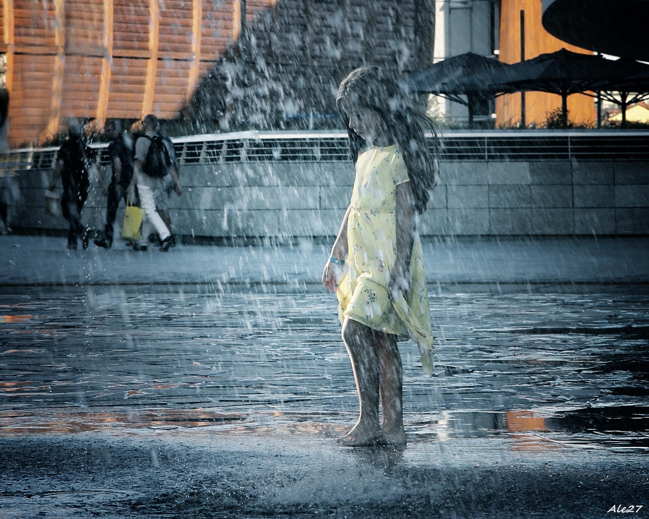... walking in the rain ......
