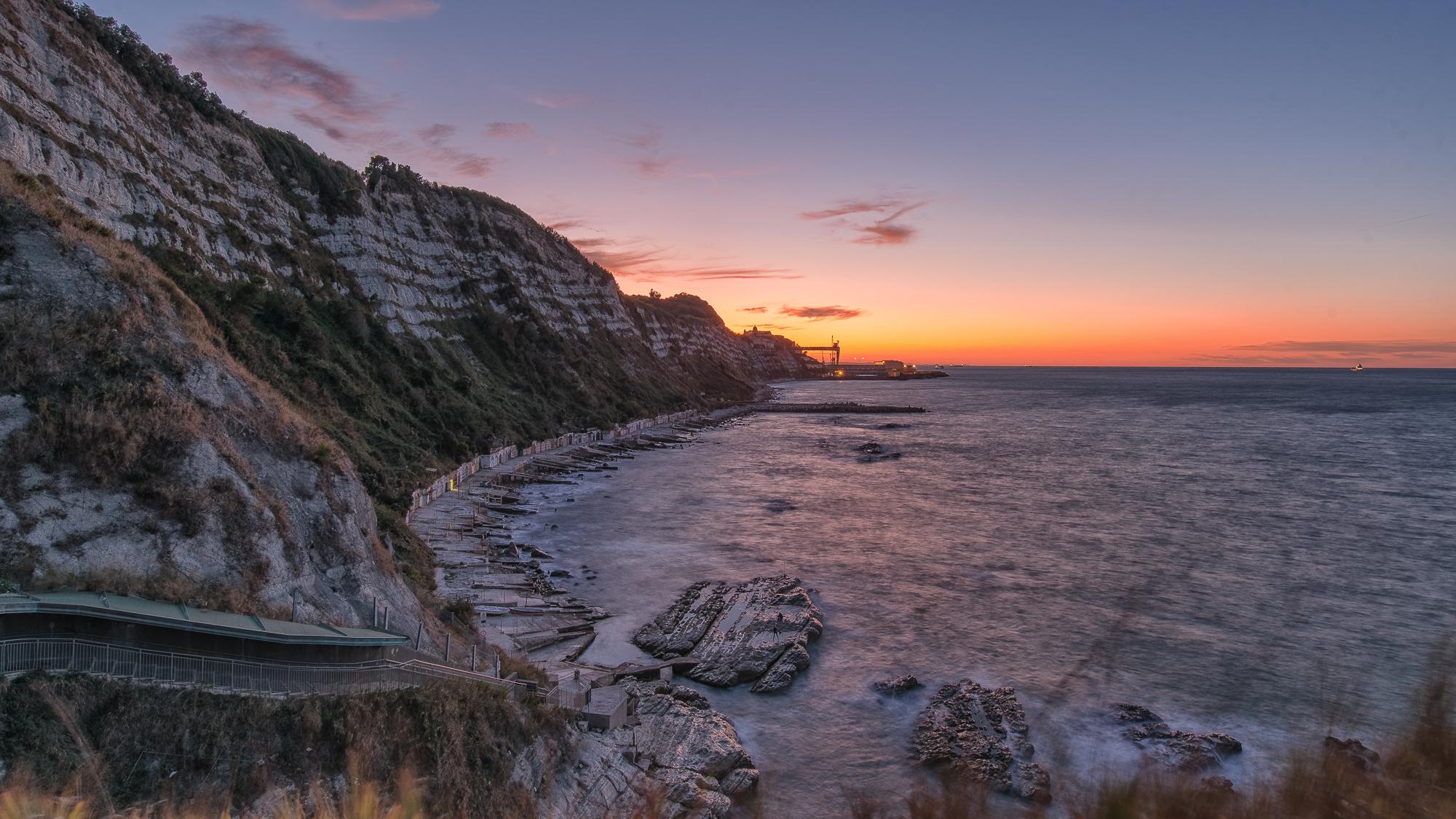 Tramonto settembrino Grotta Azzurra Ancona...