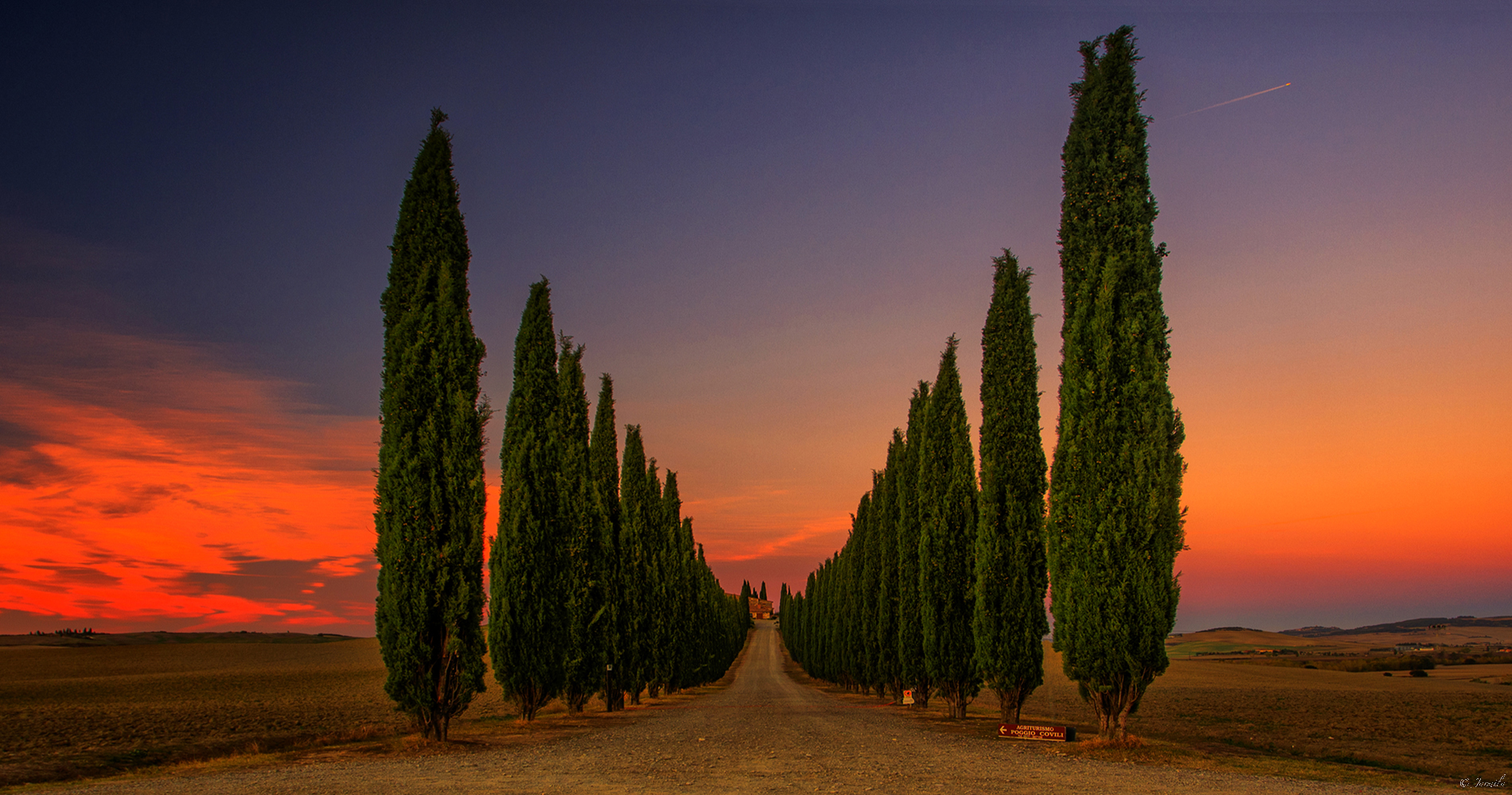 Cypress Avenue at Sunset...