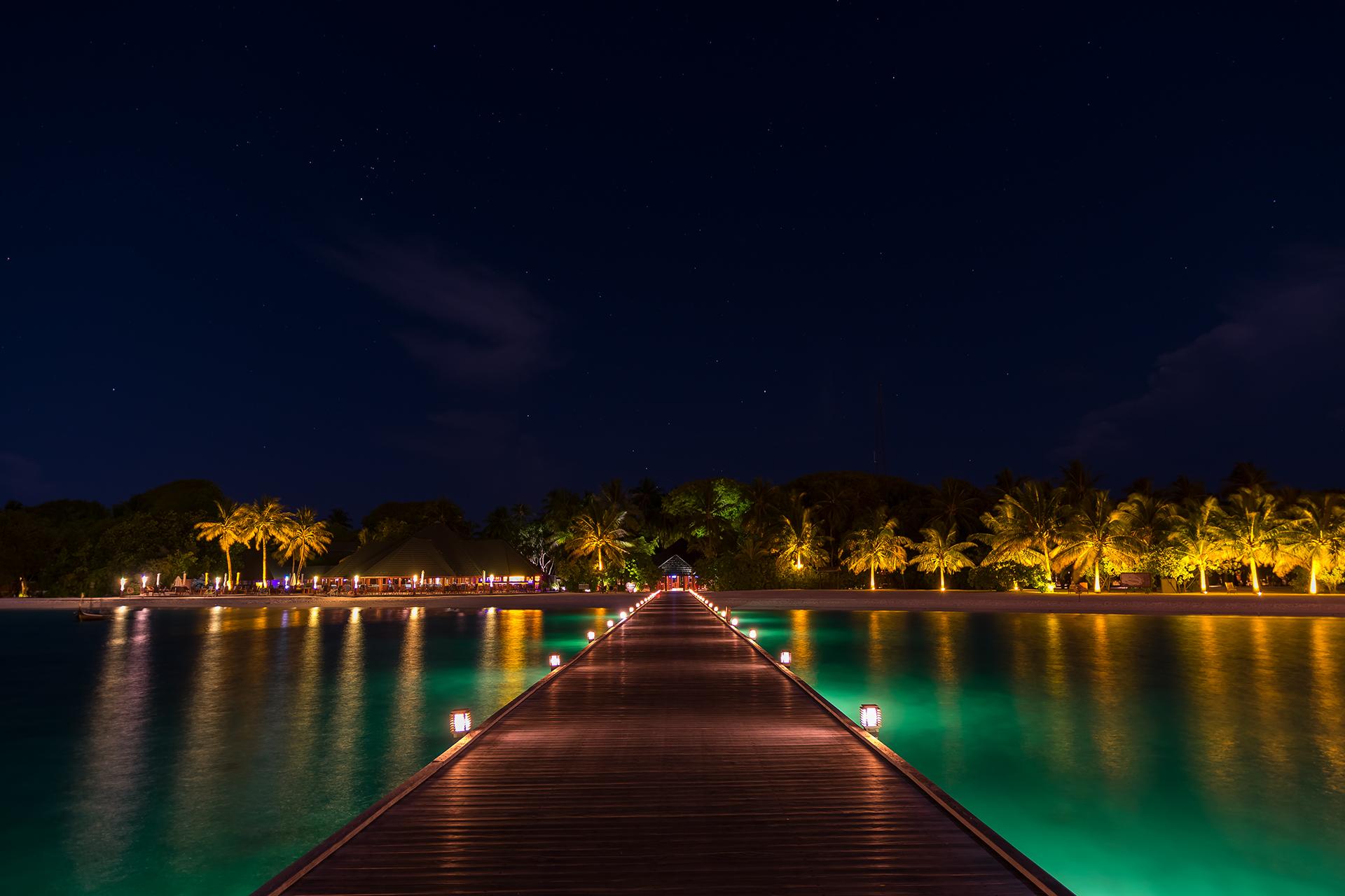 Maldives by night....