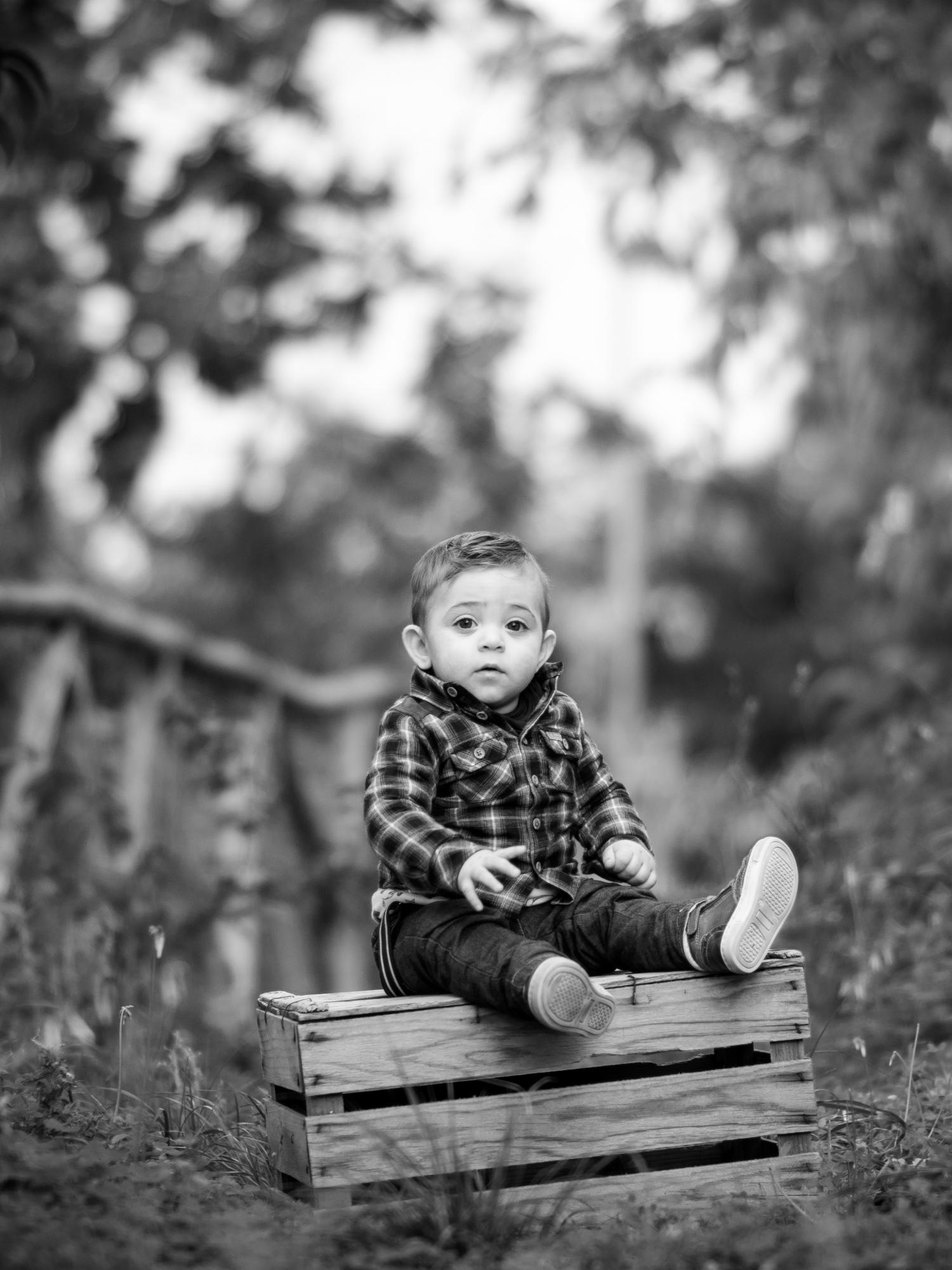 A little boy ...
