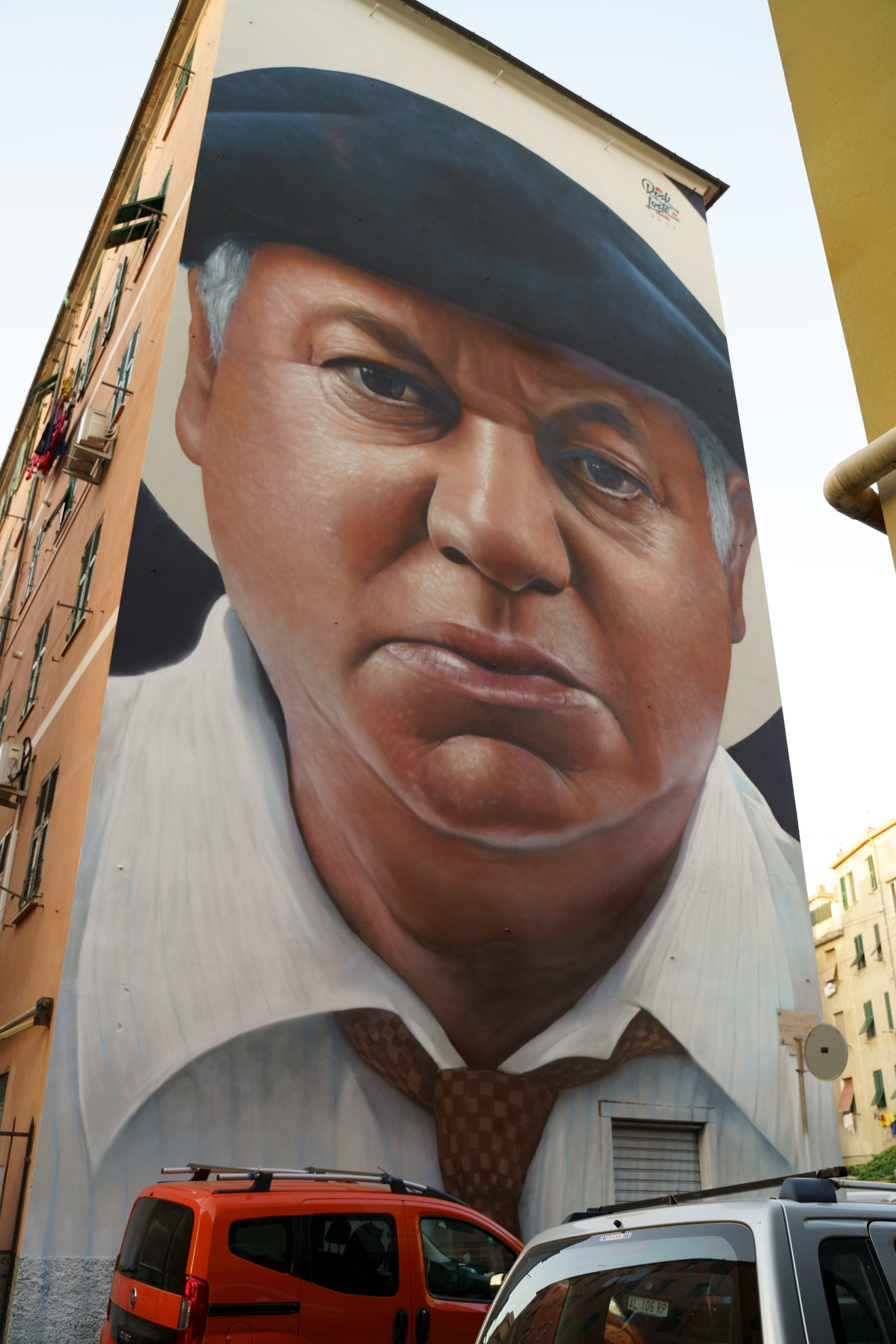 Murales di Rosk&Loste - Paolo Villaggio...
