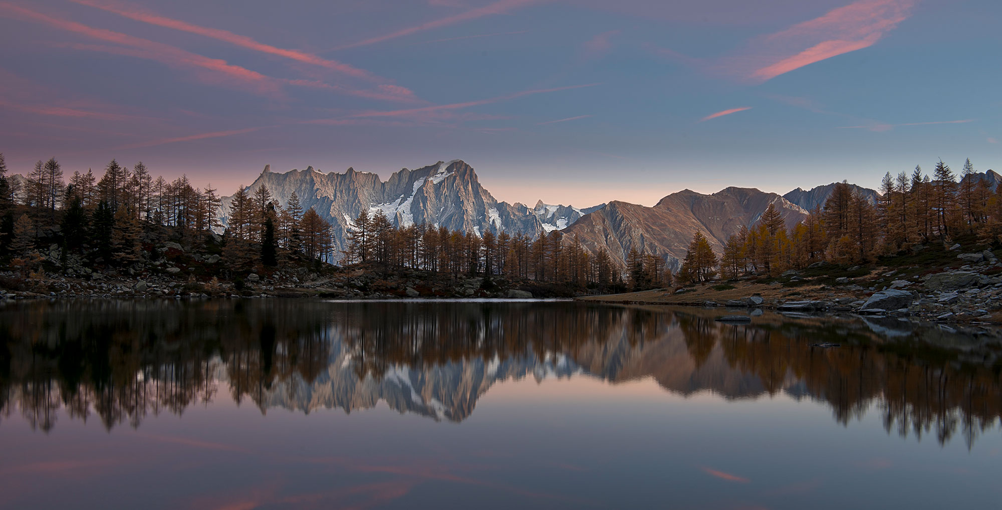 Sunrise at Lake D'arpy...