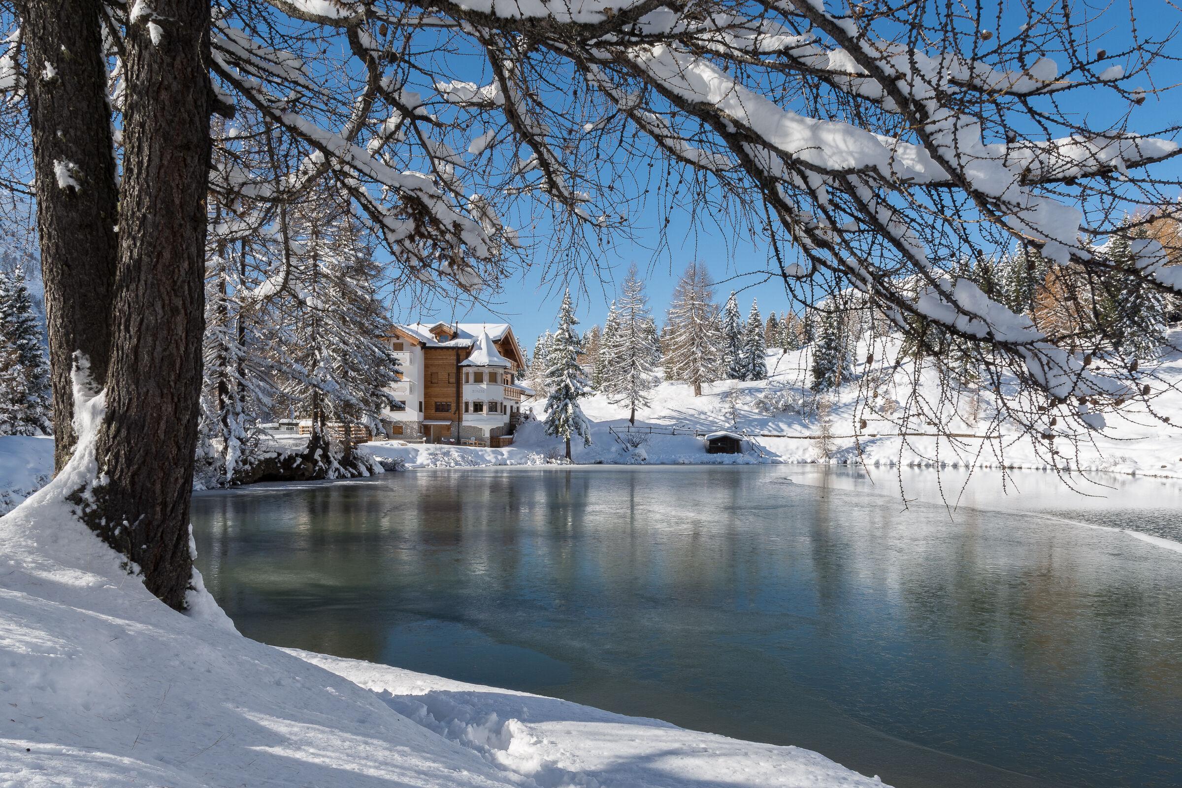 Alpine pond at San Pellegrino...