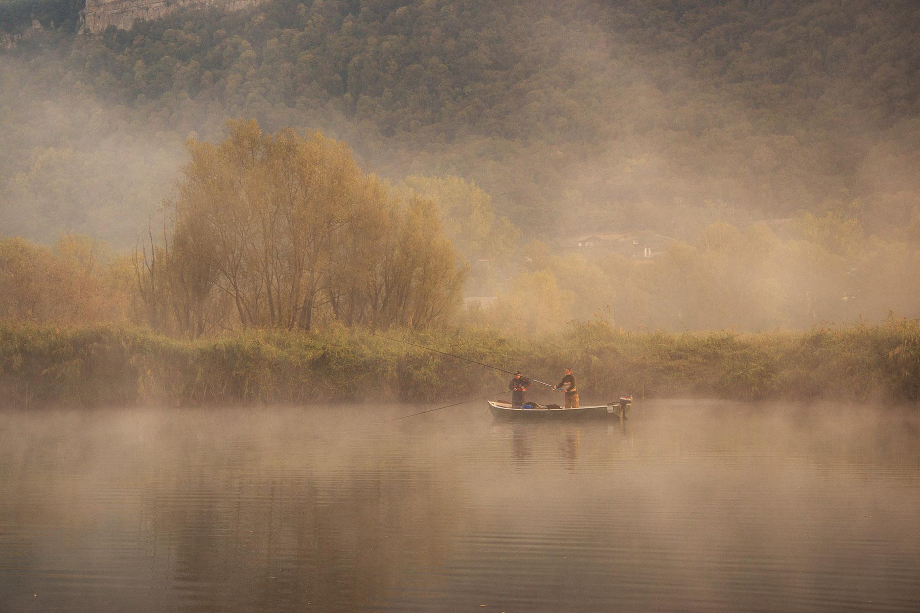 fishermen in the fog...