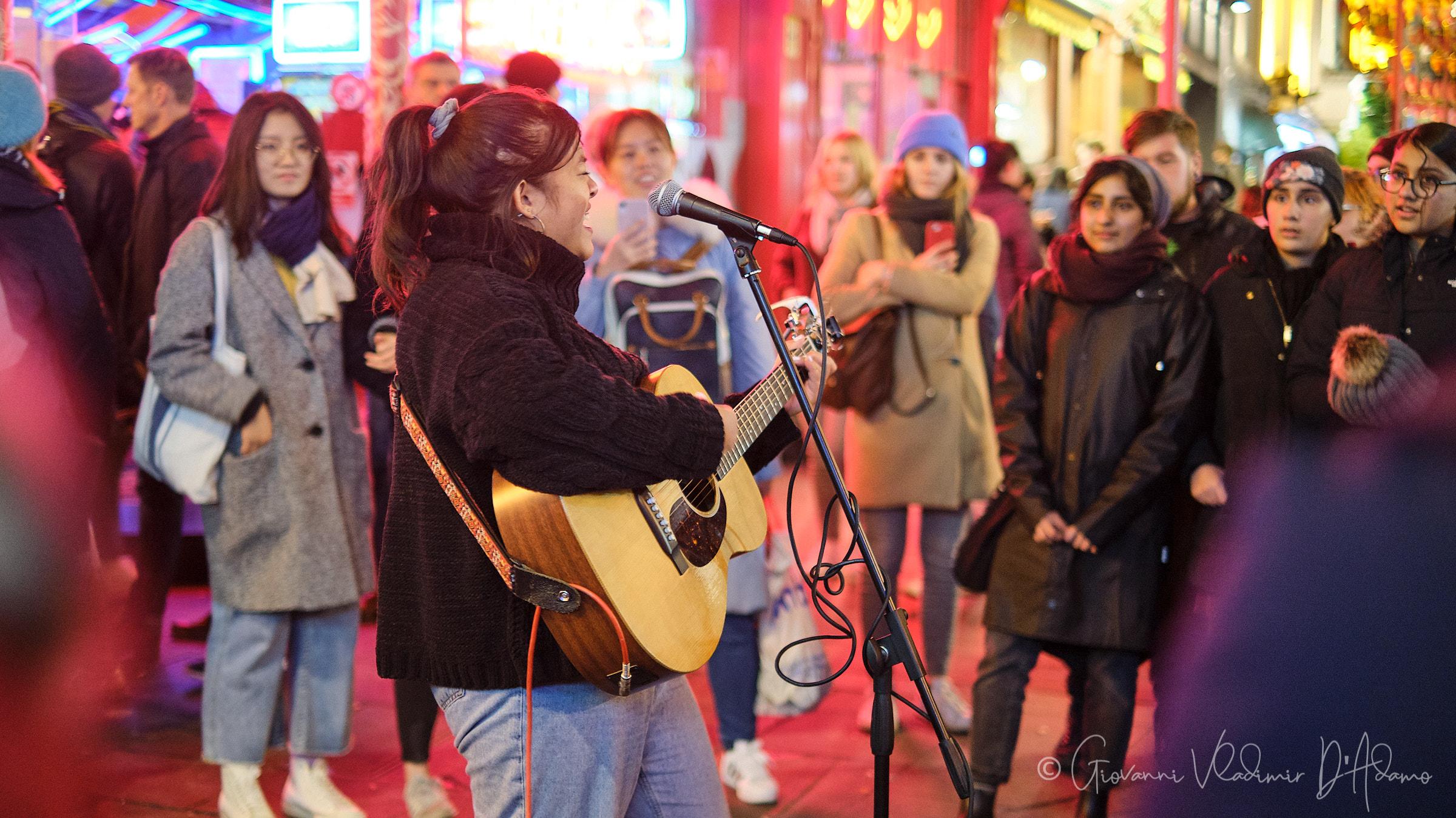 Street singer...