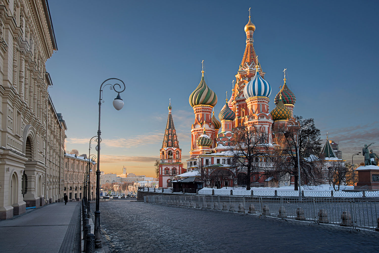 St. Basil's Cathedral as seen from the Red Square...