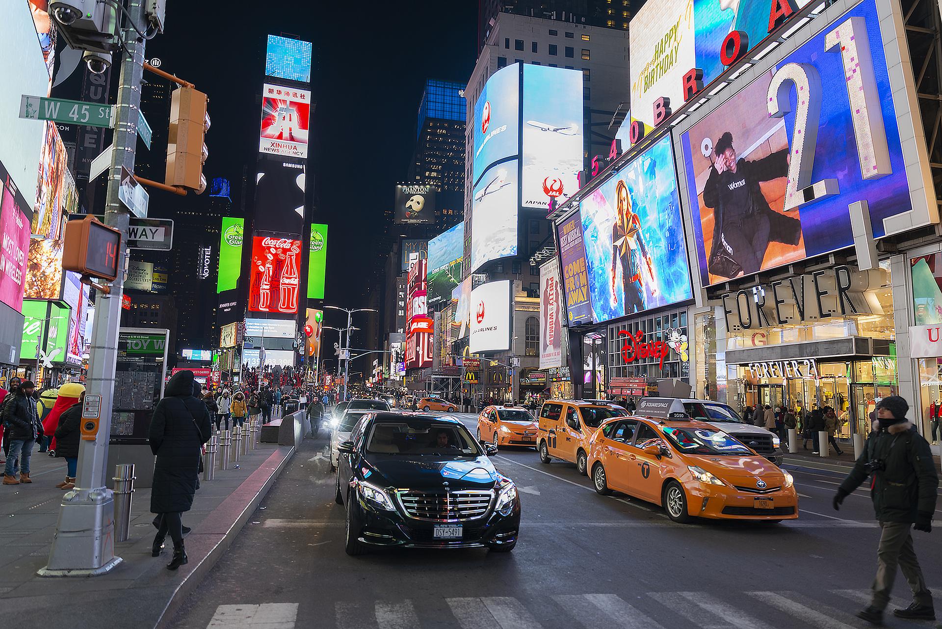 Passeggiando nelle luci di New York...