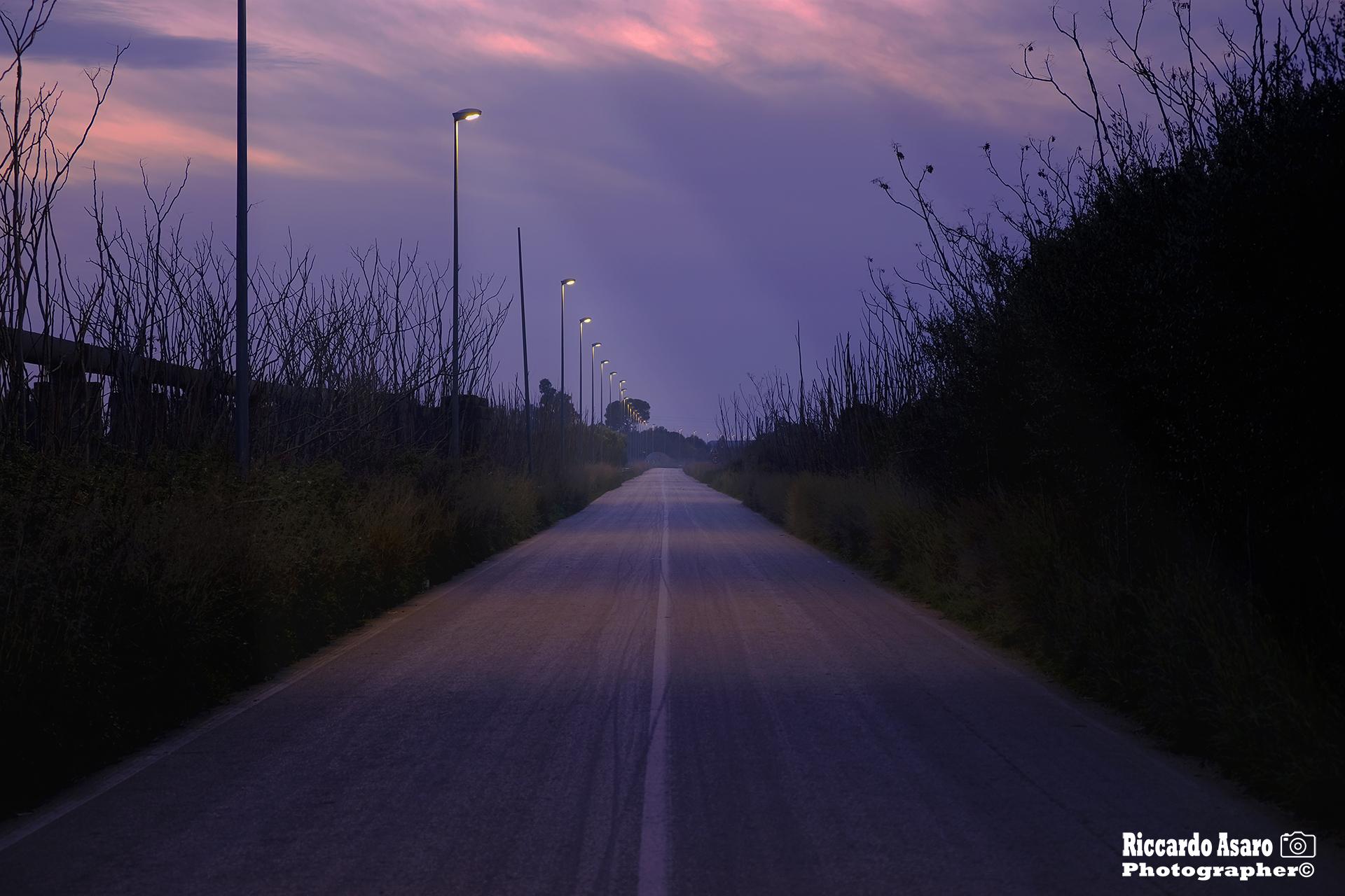 Illuminated streets...