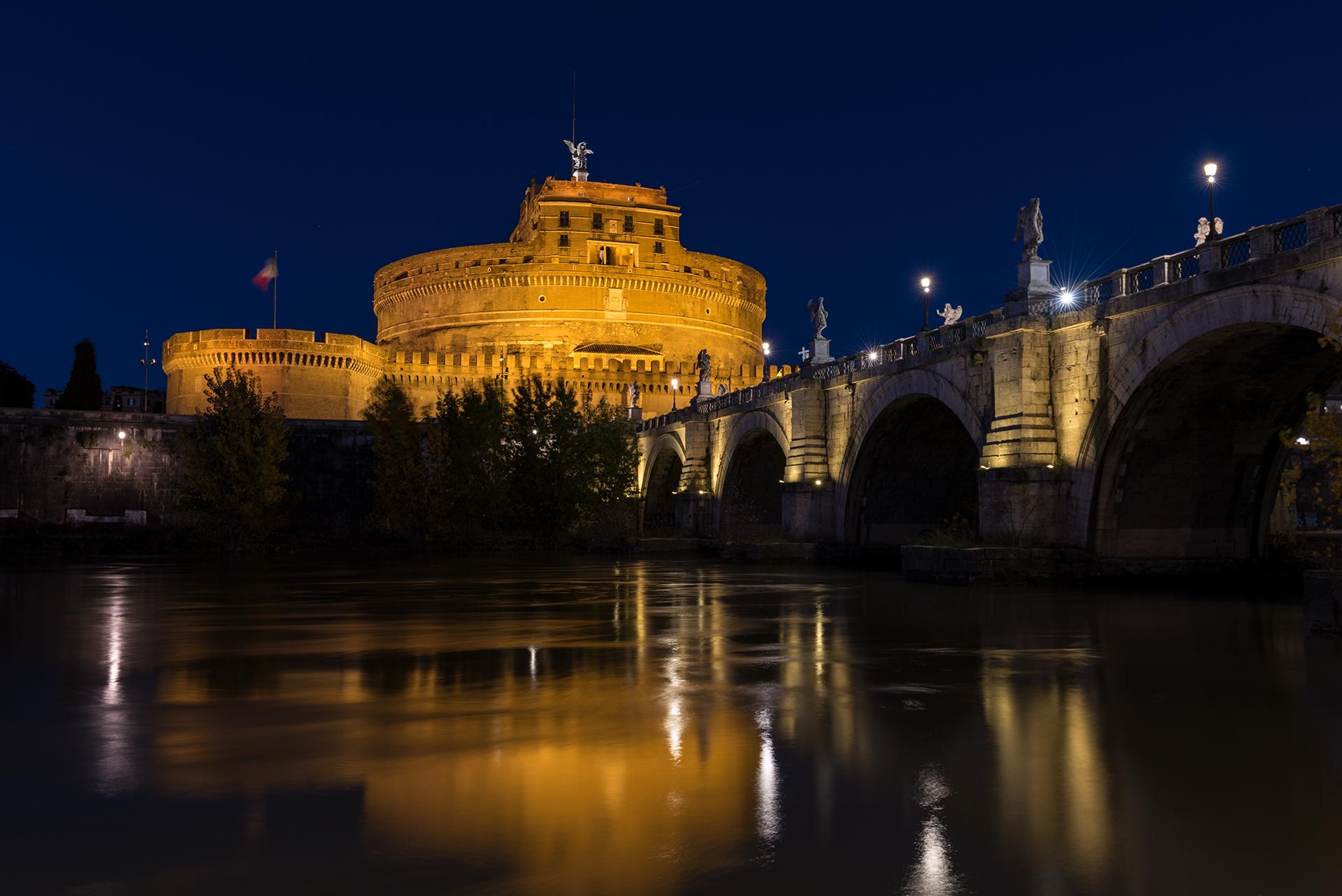 Castel Sant'Angelo in Blue...