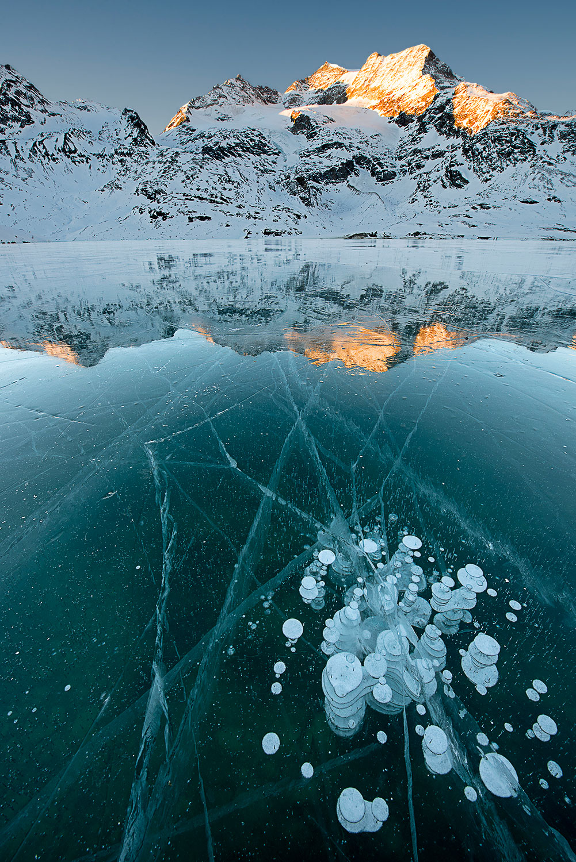 White Lake In winter at dawn...