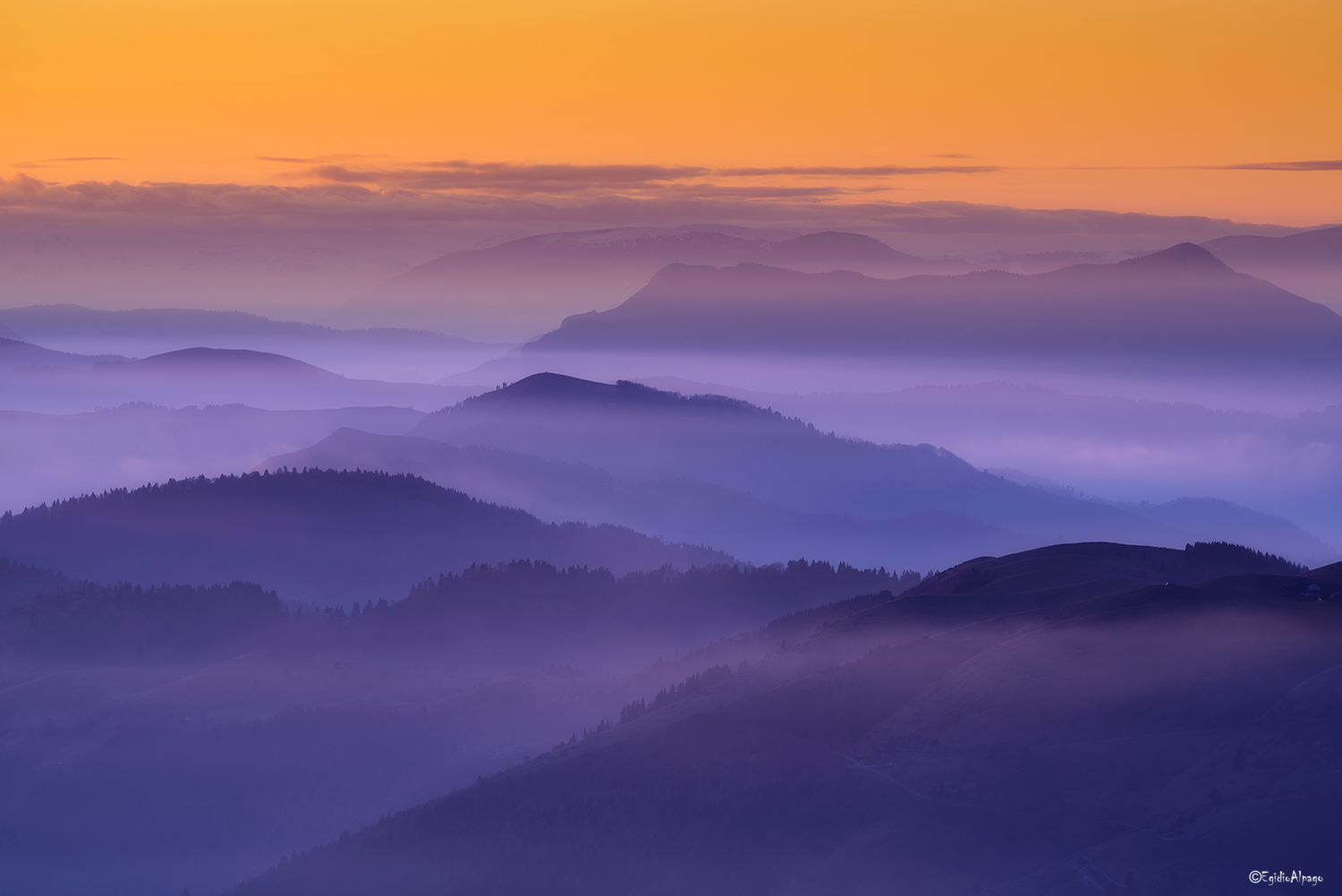 When the mists are colored....