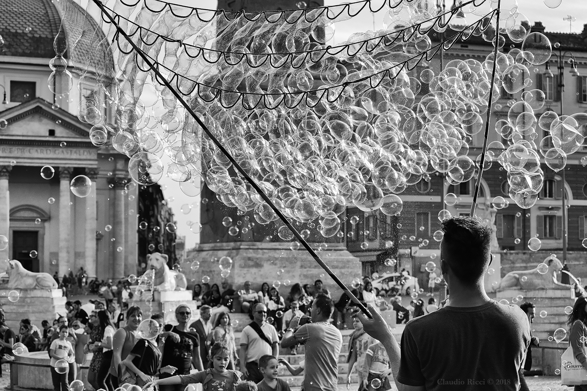 The Curtain of Bubbles, Rome, 2018...