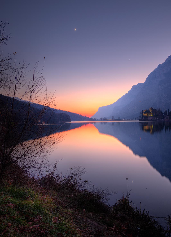 Crepuscolo al lago di Toblino...