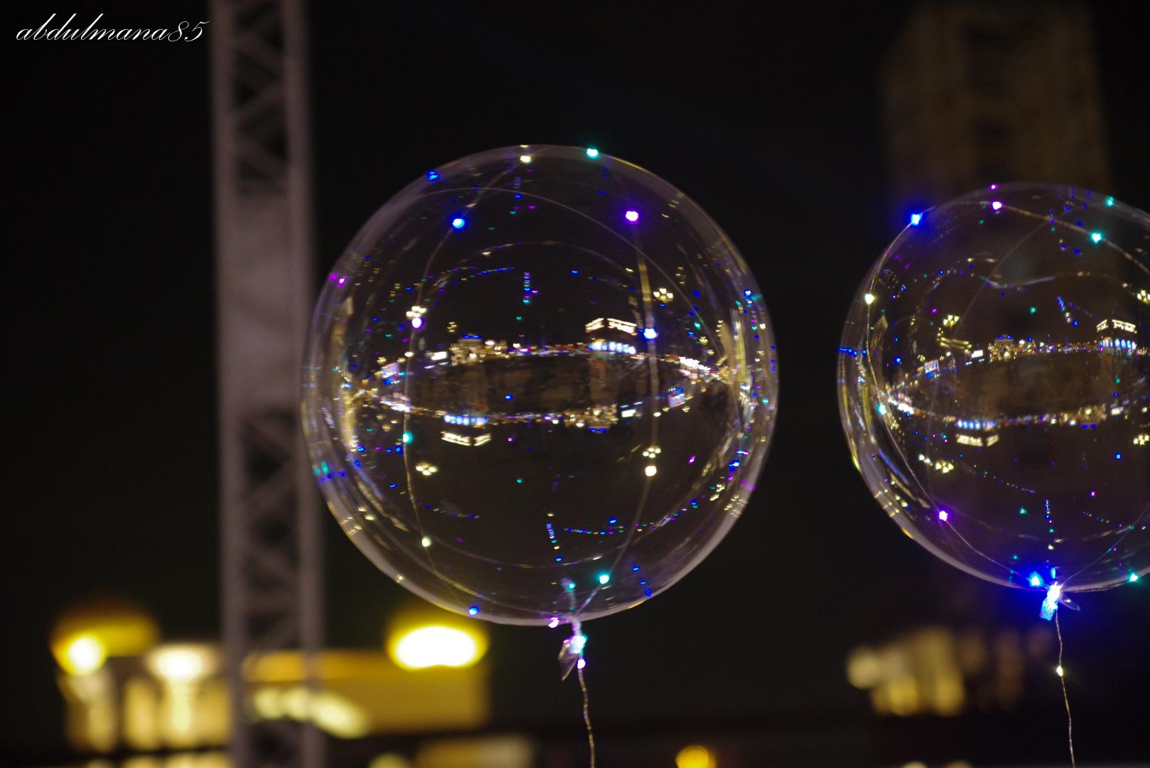 Bubble baloons...