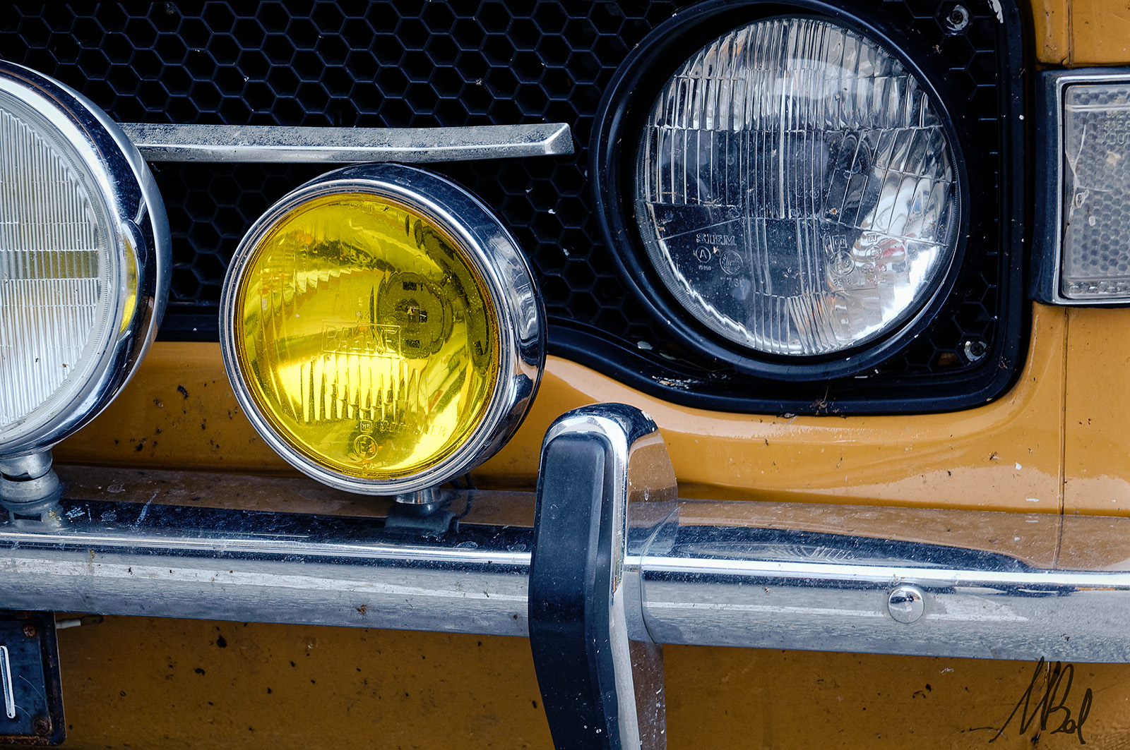 Two yellows - Fiat 128, 1st series,1969...