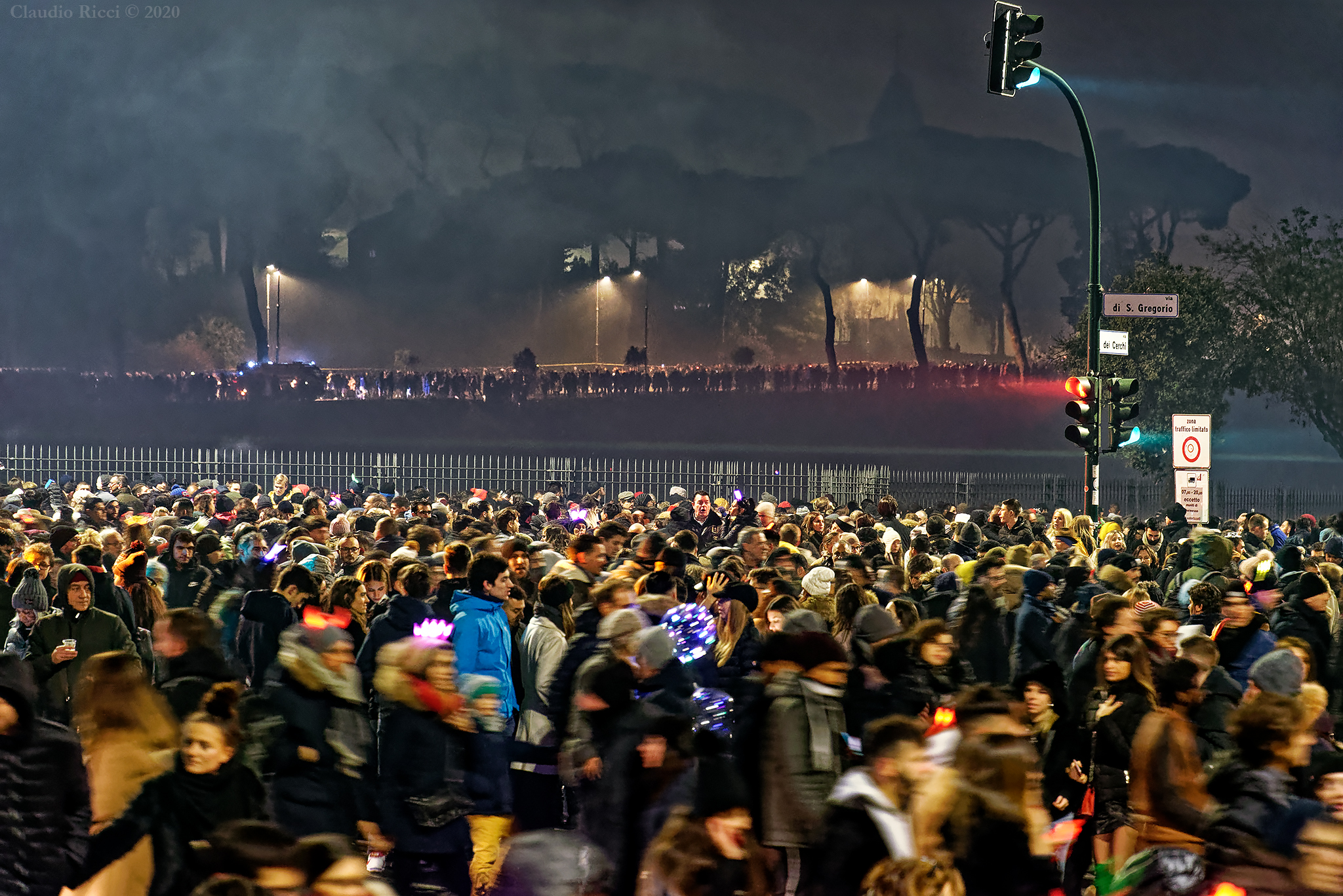 New Year's Eve in Rome, Circus Maximus, 1 January 2020...