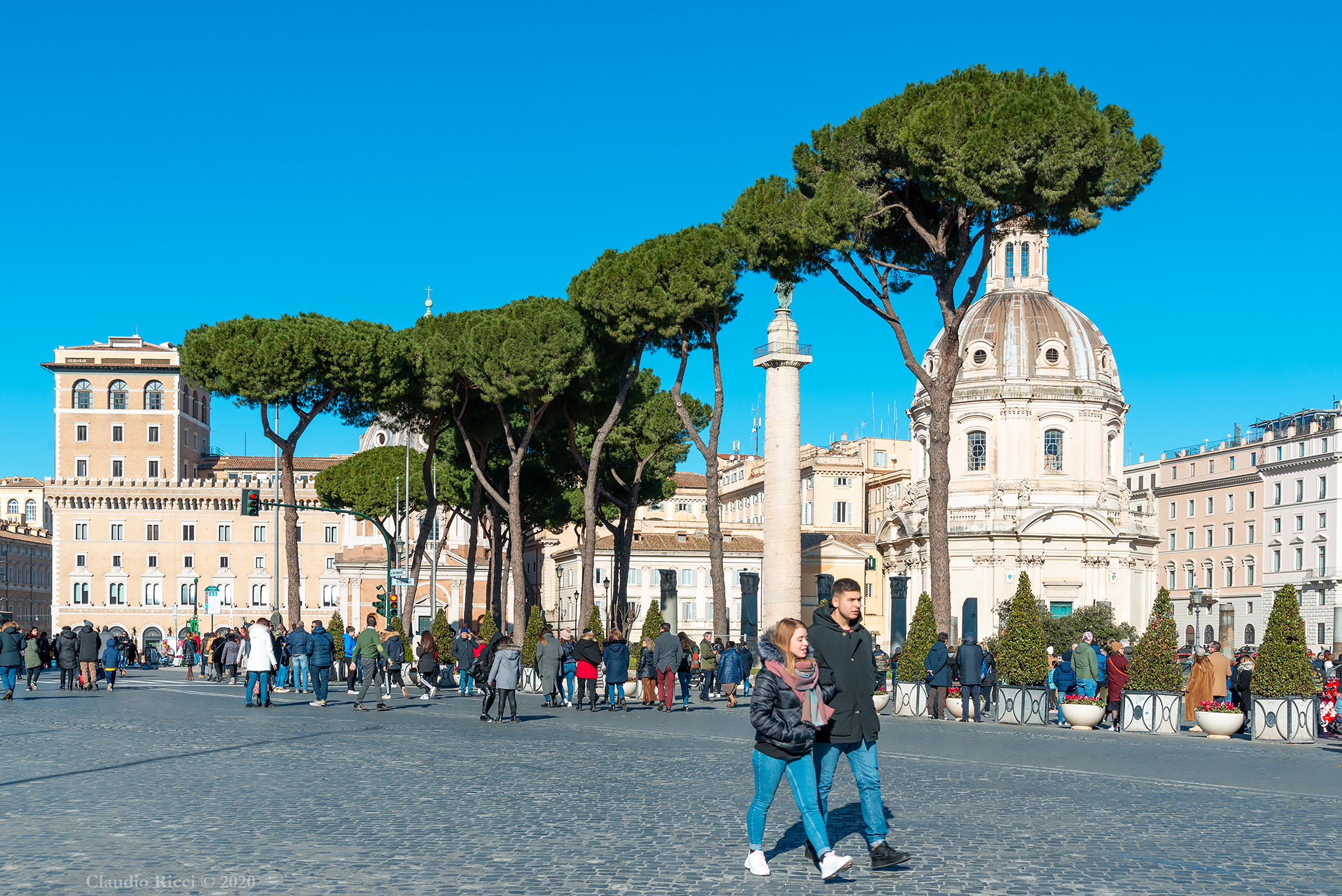 Street of the Imperial Forums, Rome, 6 January 2020...