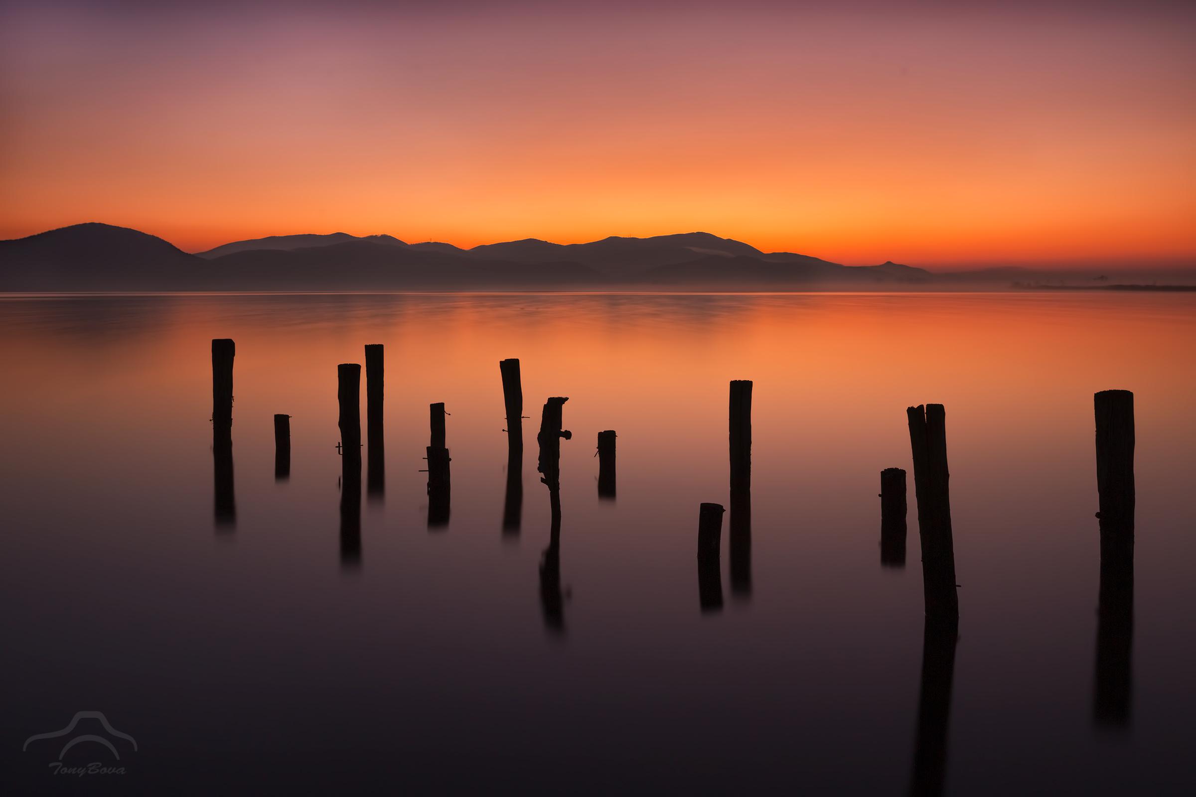 A sunrise at Torre del Lago ......