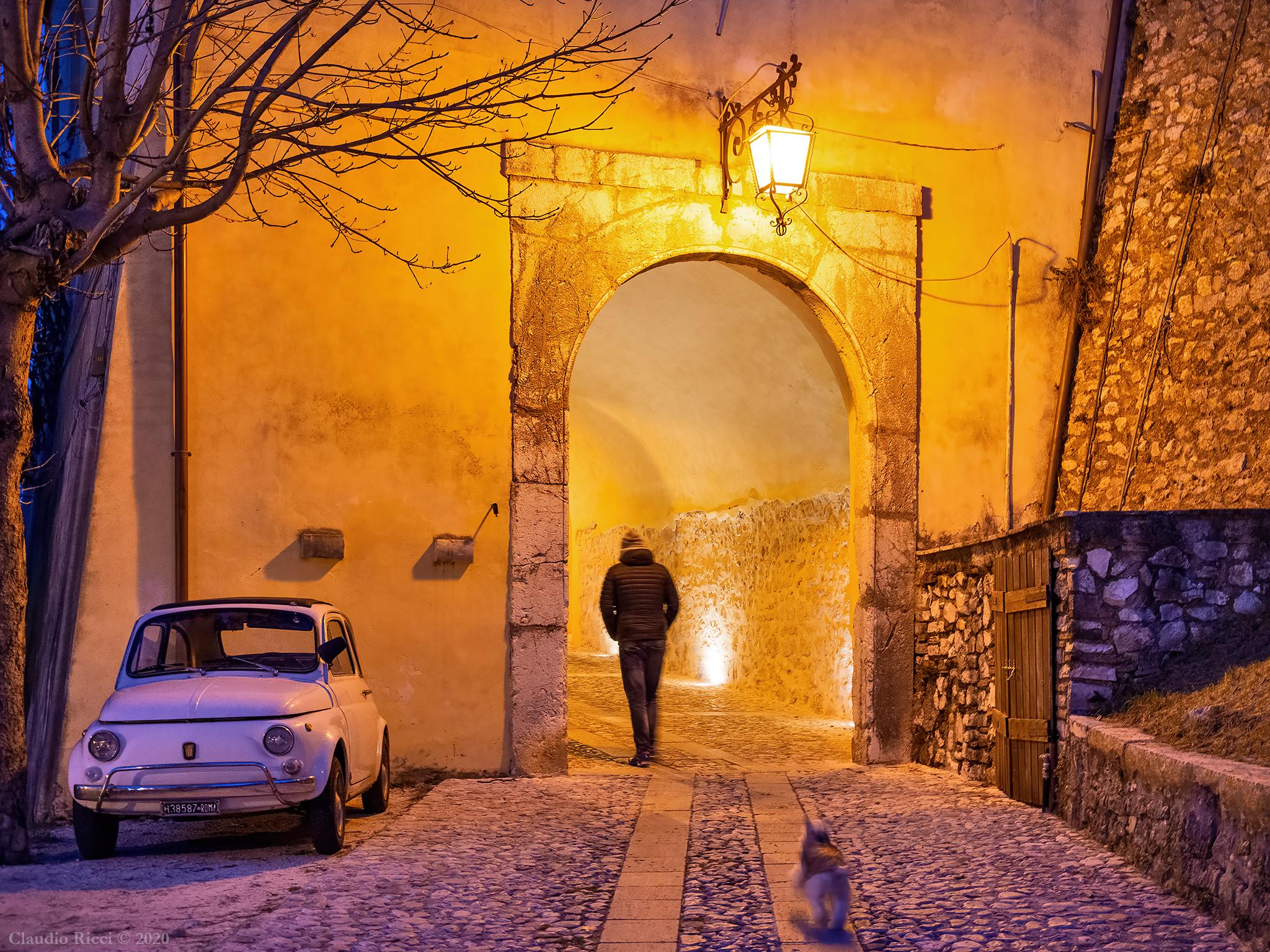 Streets of Greccio (Ri), 5 January 2020...