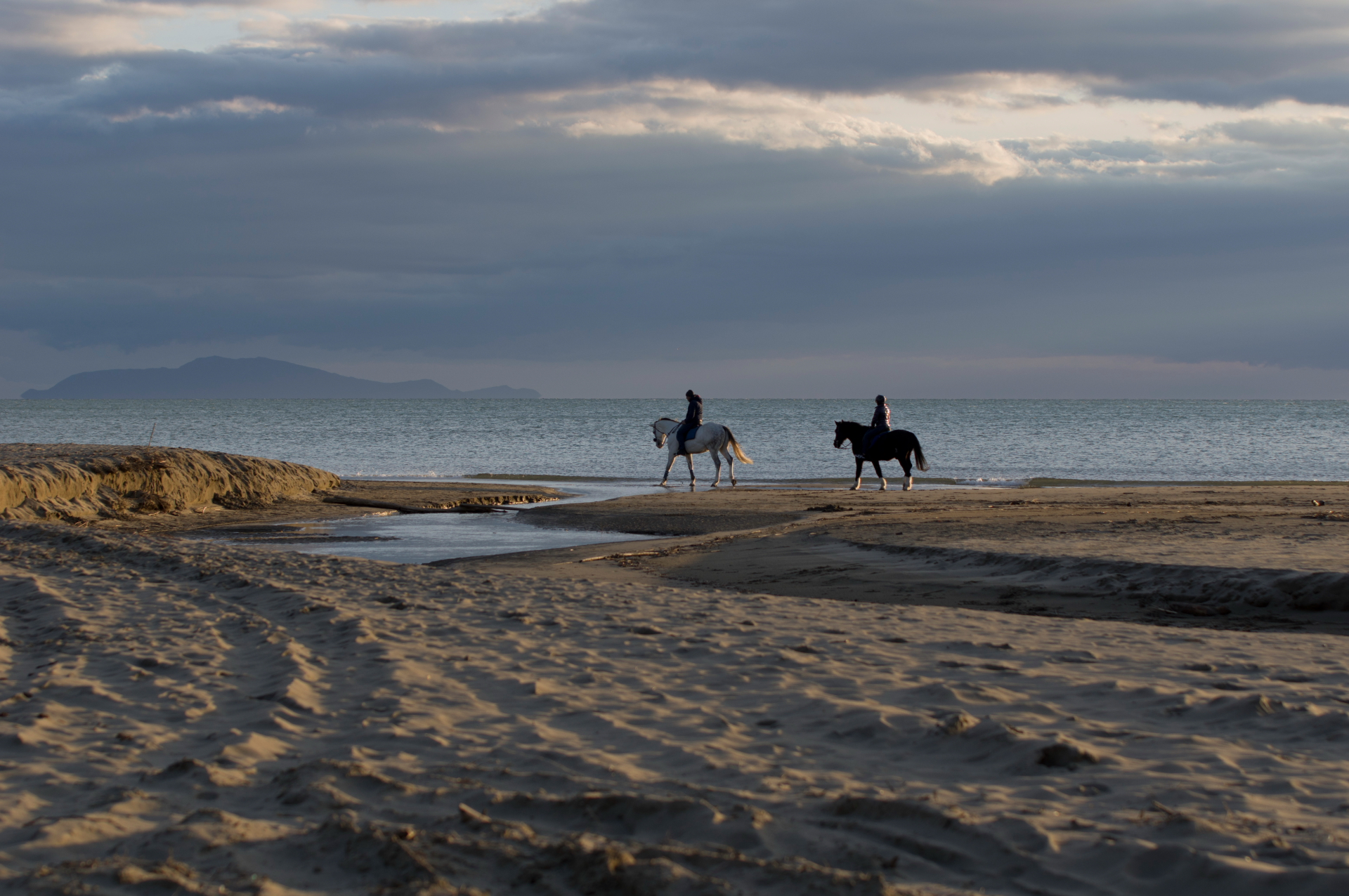 Riding on the Tuscan beaches...