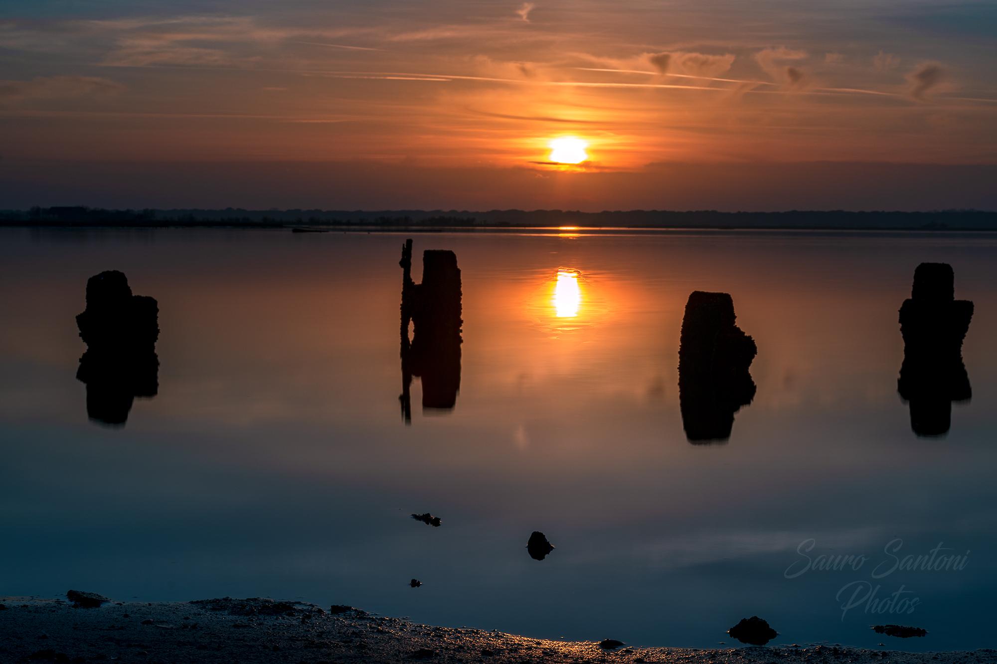 silhouette al tramonto......