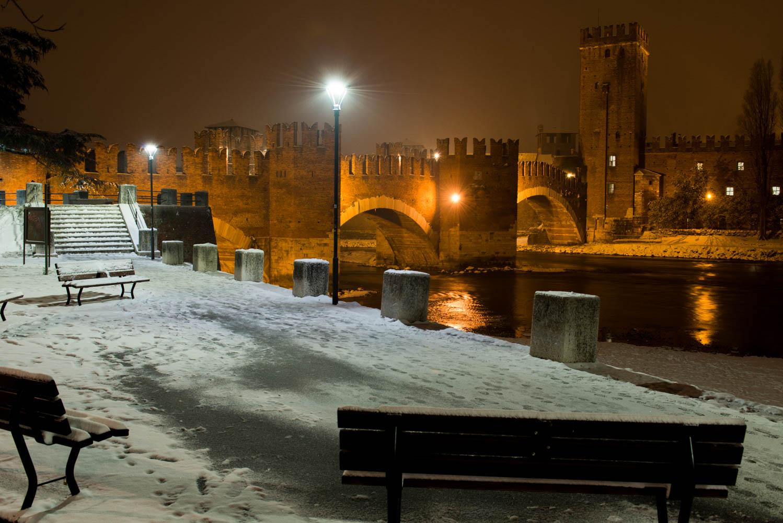 Verona, the snowfall of 2018...