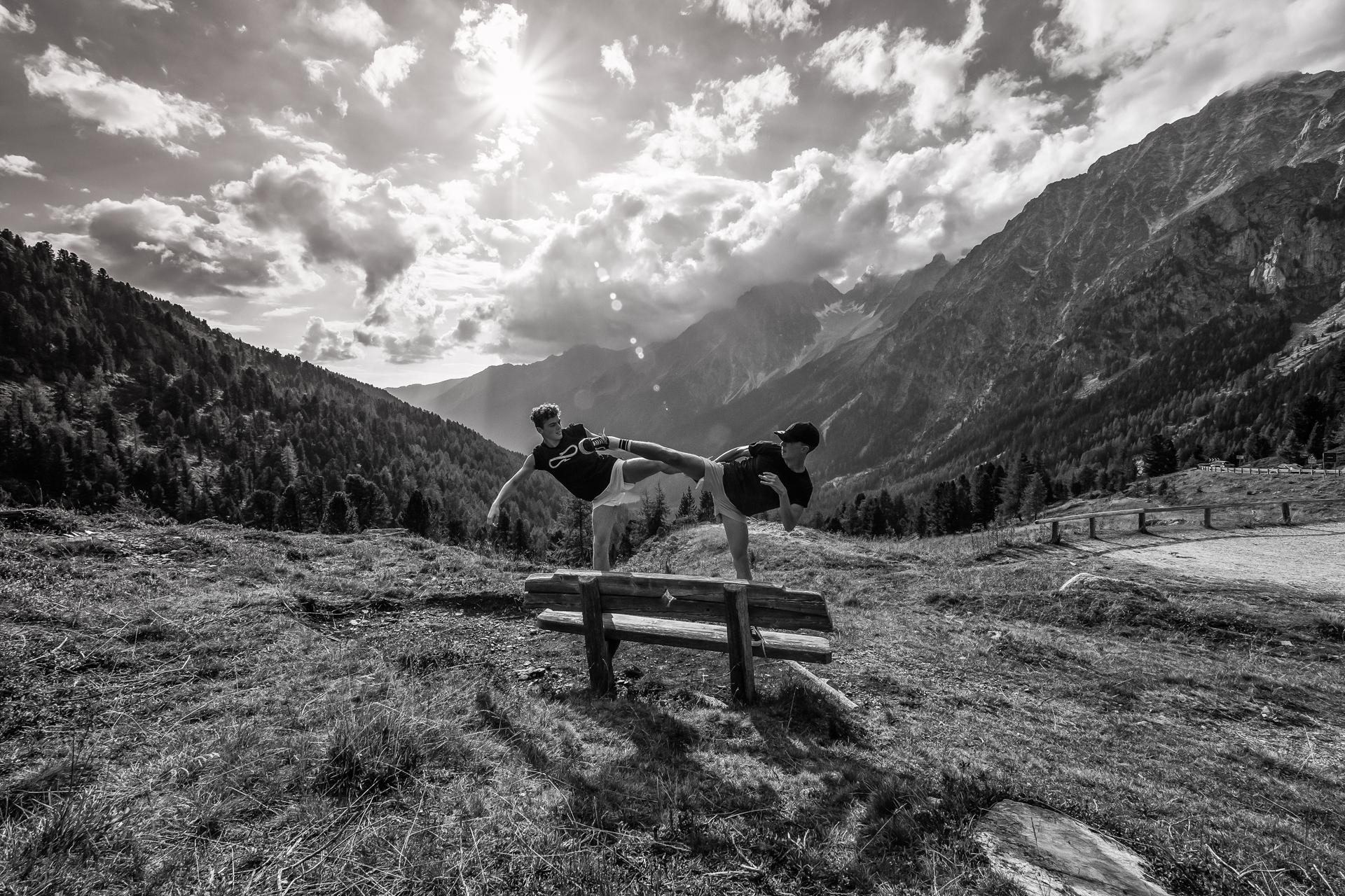 Kumite on Alps...