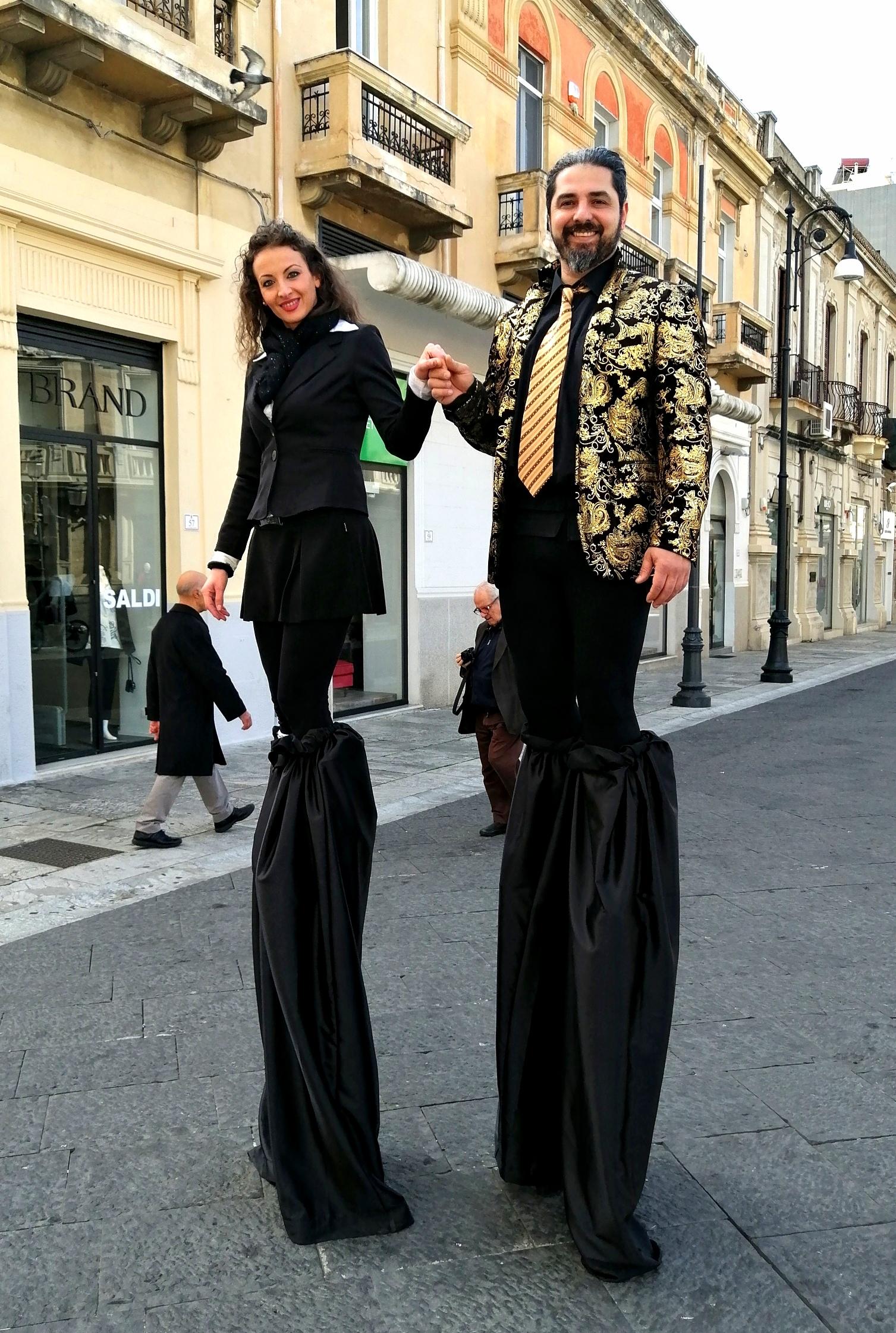 Love on stilts...