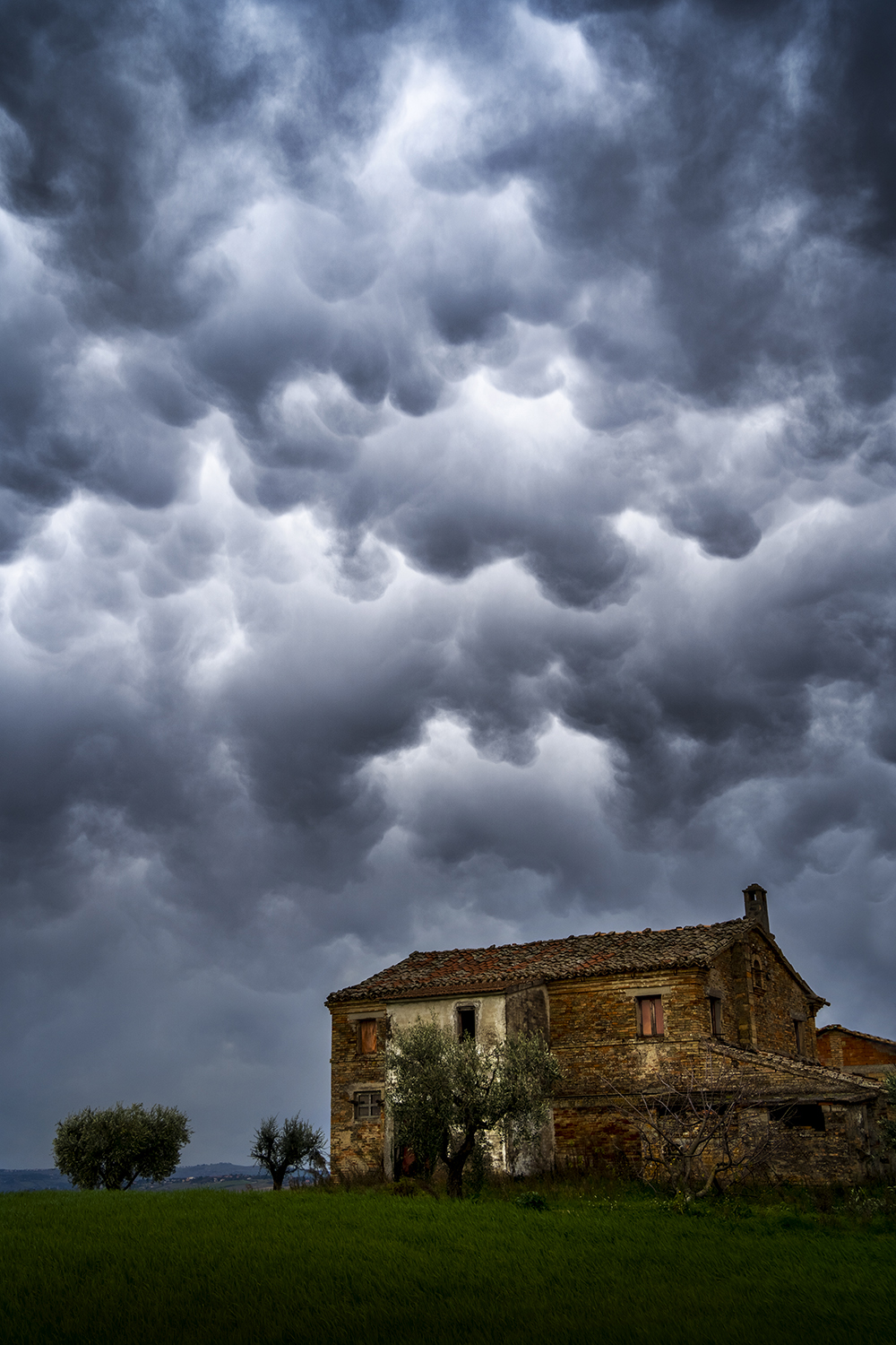 Mammatus Clouds...