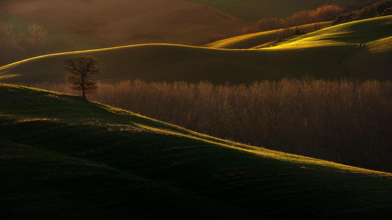 Last light on Vitaleta...