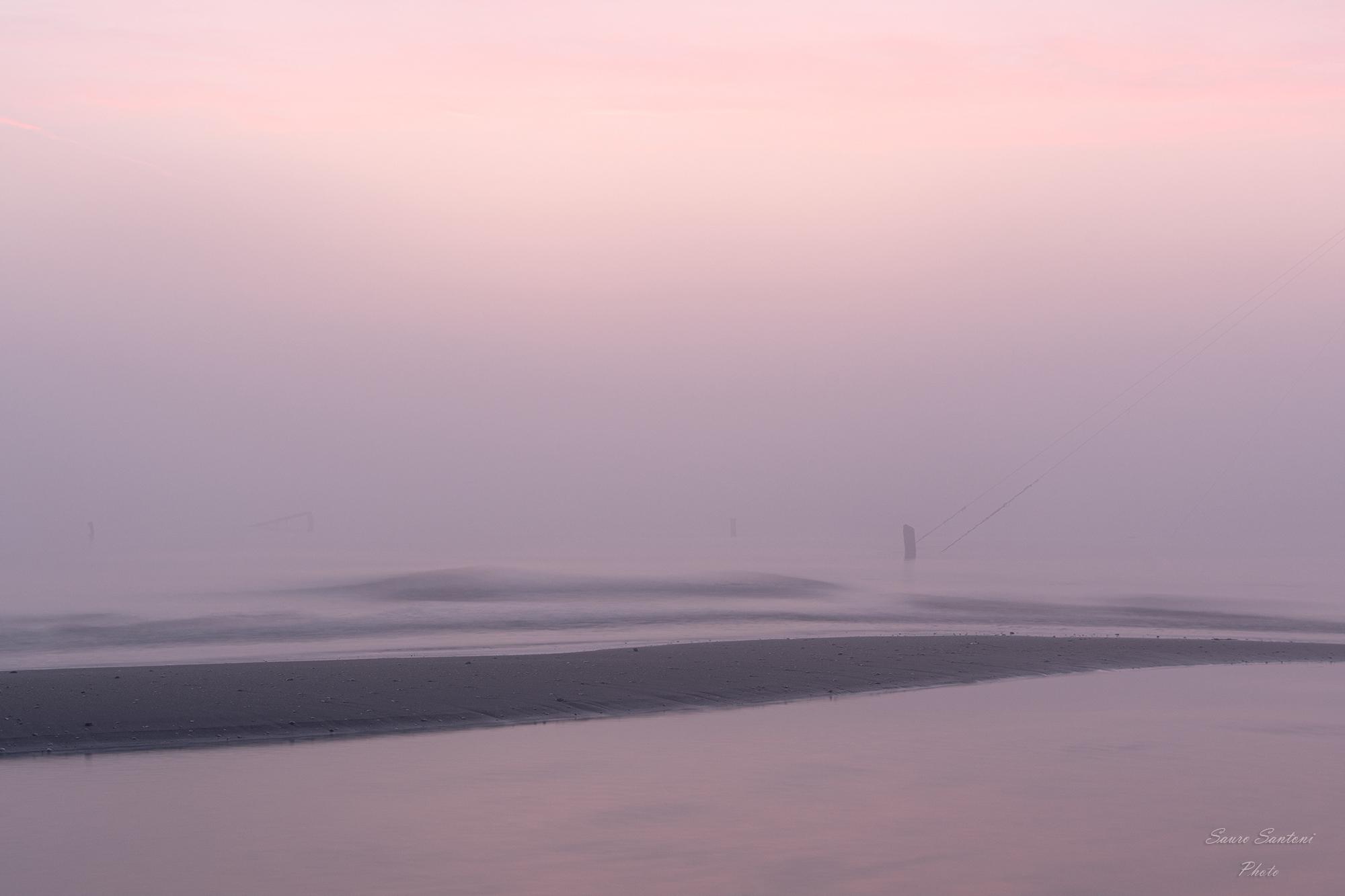 alba con nebbia...