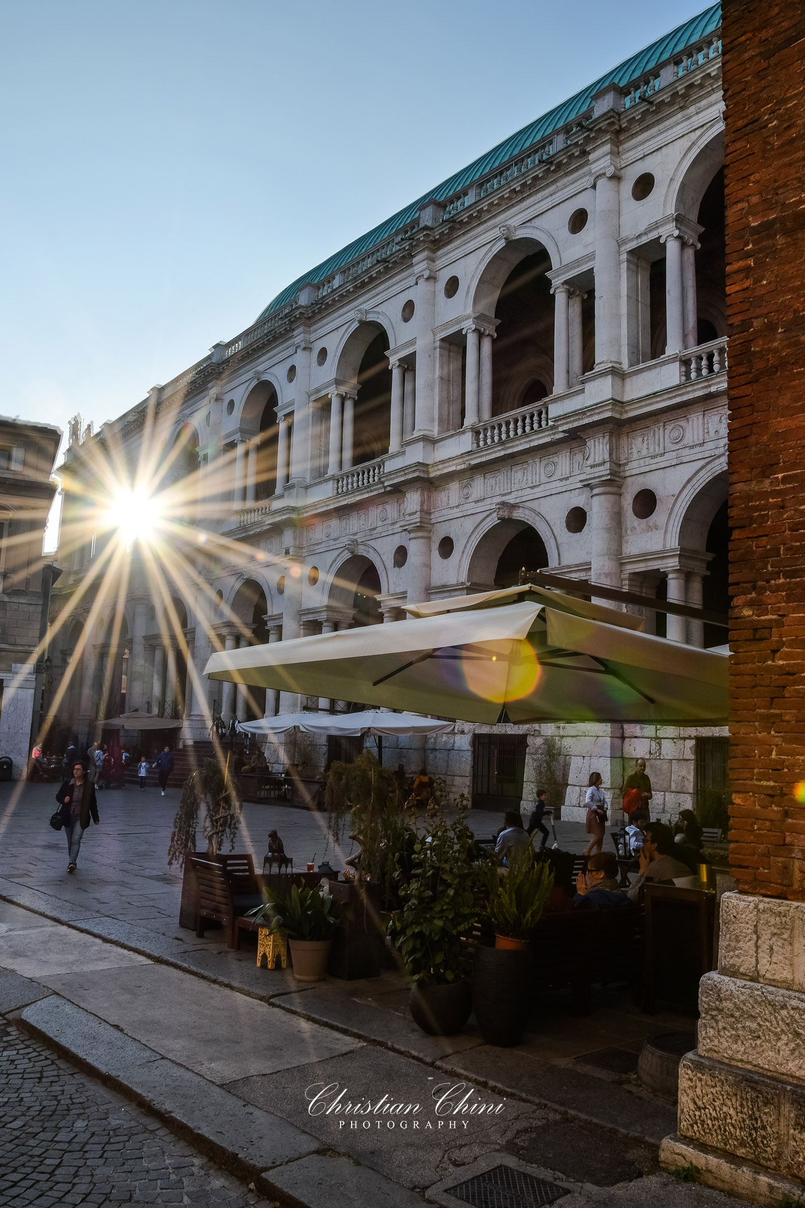 The Sun kisses Vicenza...