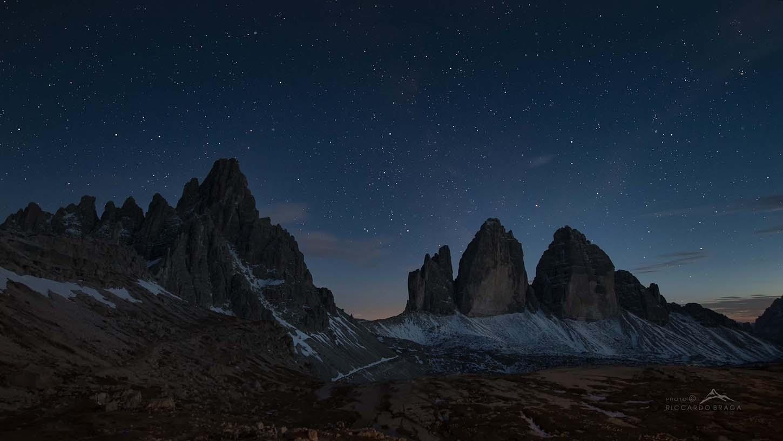 Mount Paterno and Three Lavaredo Heights...