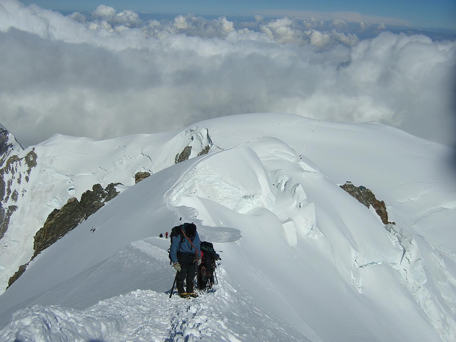 Last strenuous steps towards the top ( M.te White 2004...