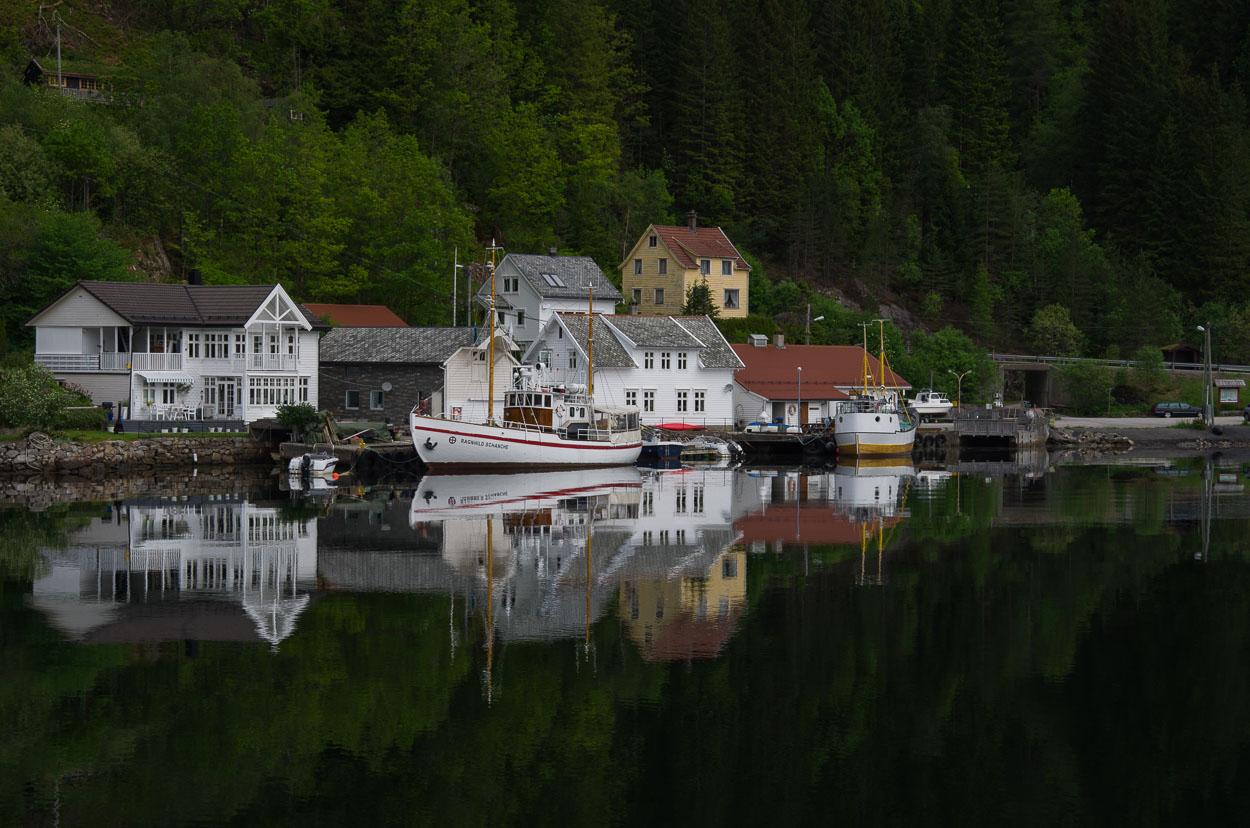 insediamento nel fiordo di Bergen...