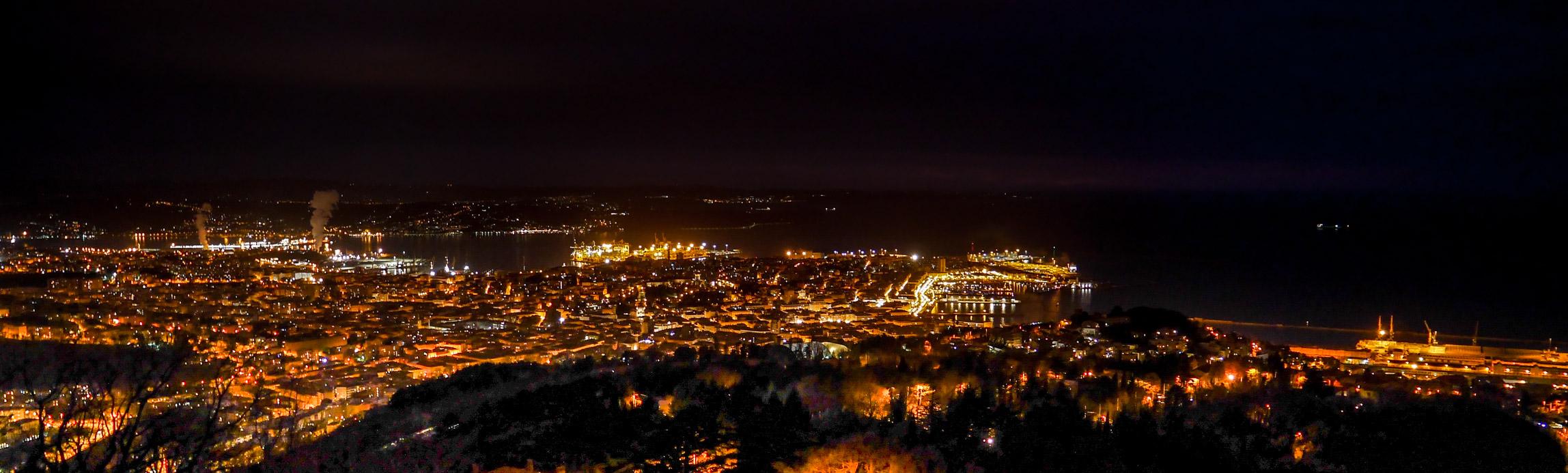 Trieste at night...