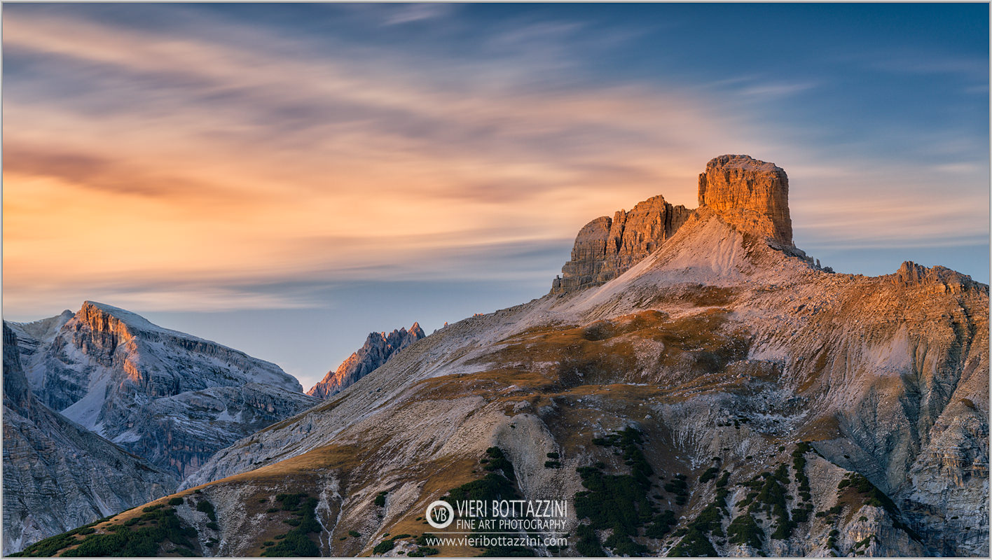 Scarperi Tower at Sunset, Dolomites...