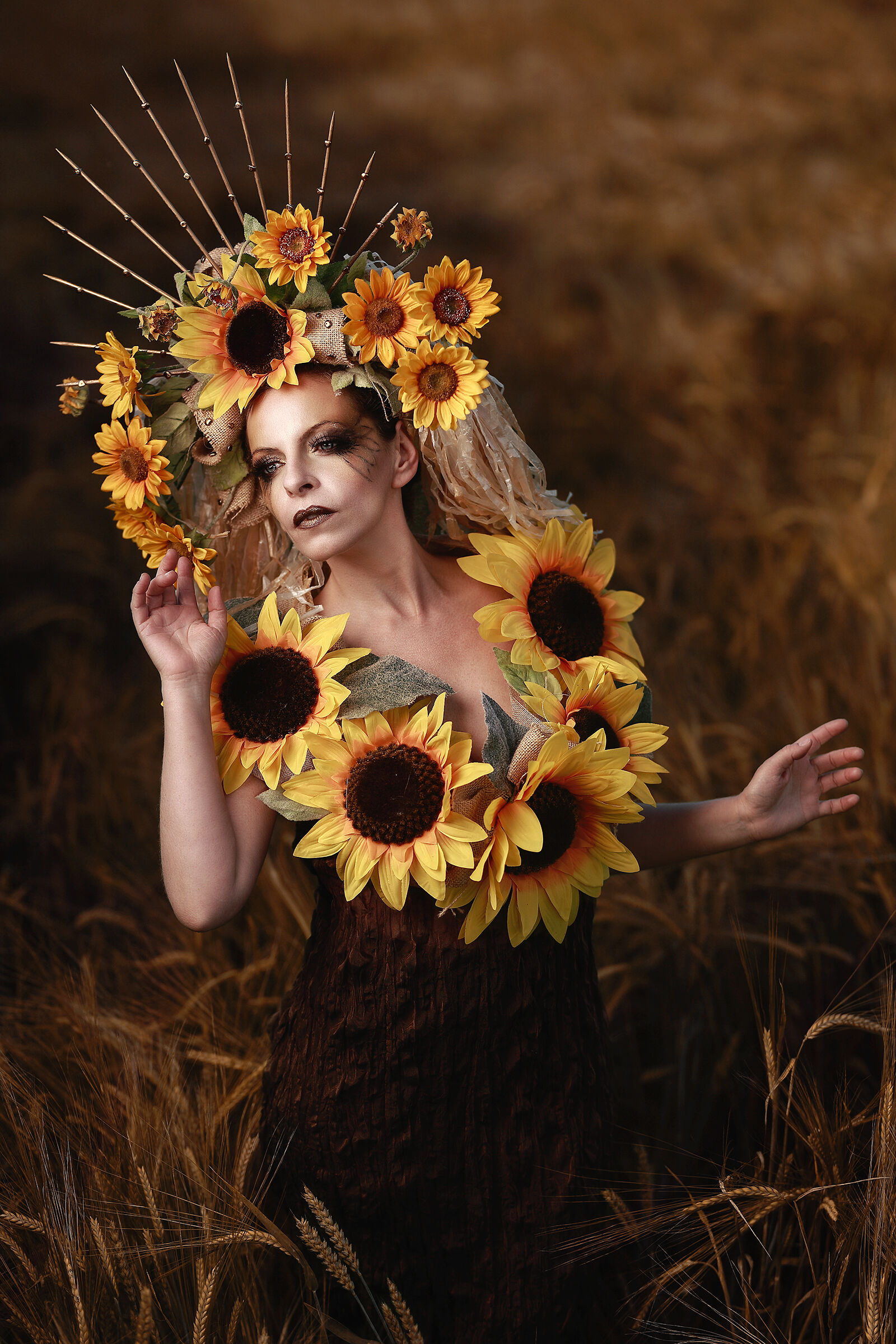 The sunflowers Lady's...