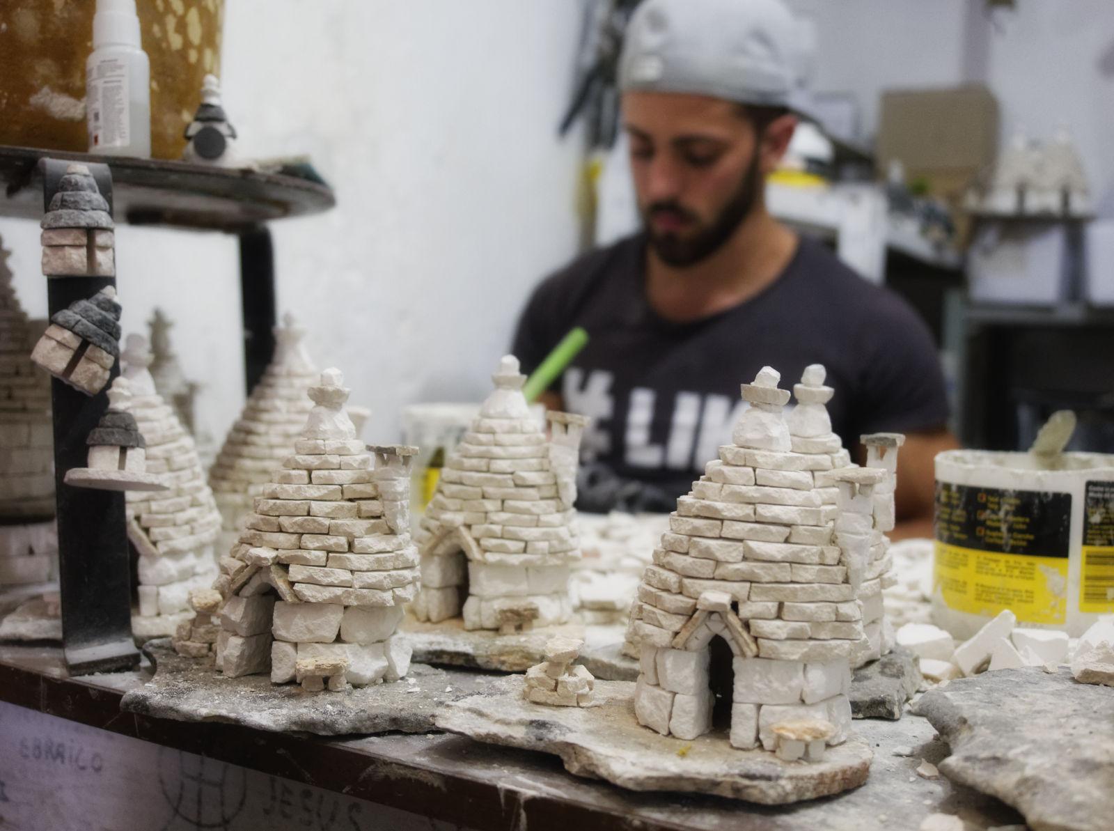 Alberobello - local craftsman...