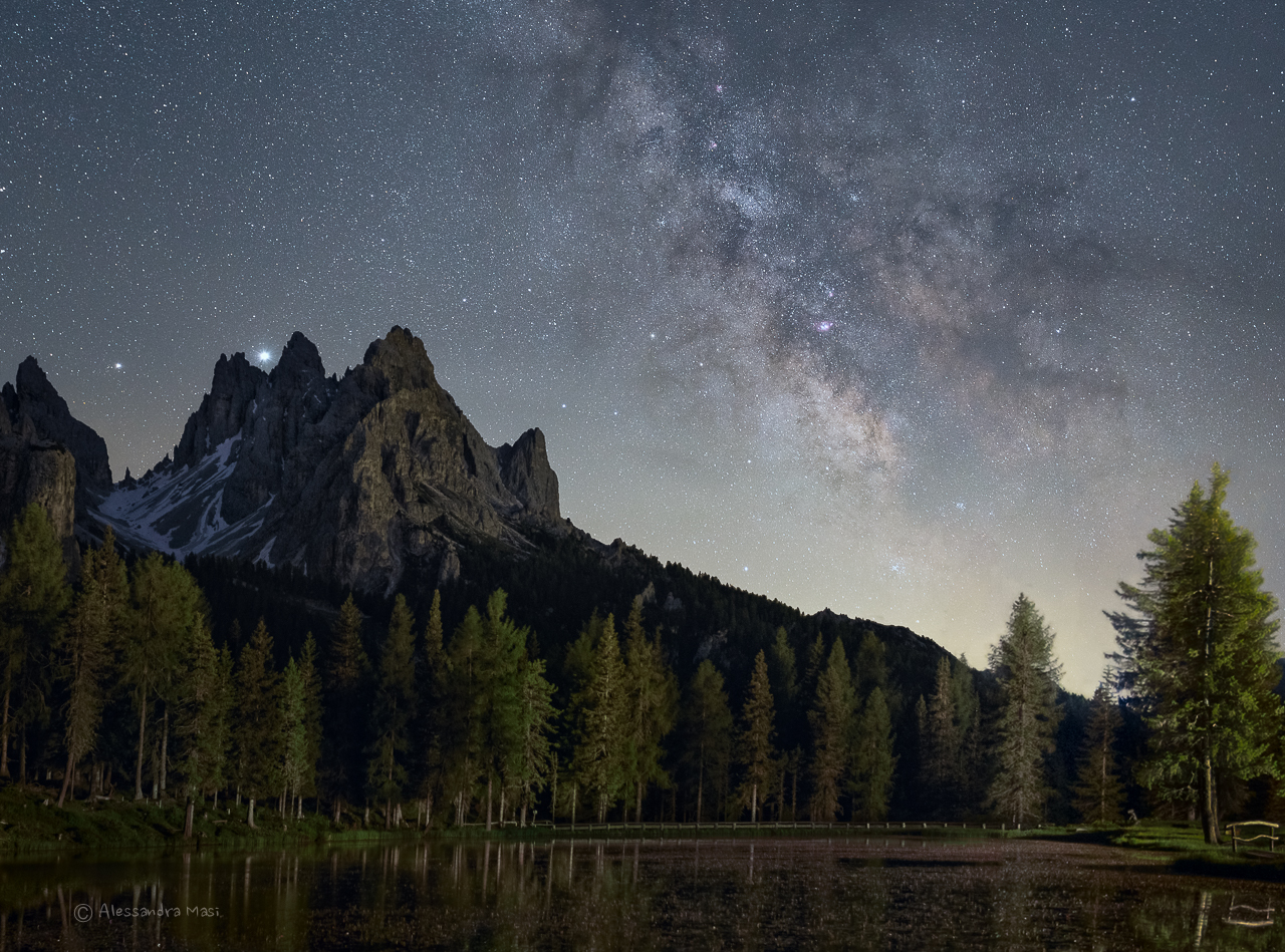The core of the Milky Way above Lake Antorno...